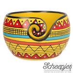 Scheepjes Scheepjes Yarn Bowl Mango Yellow Stripe