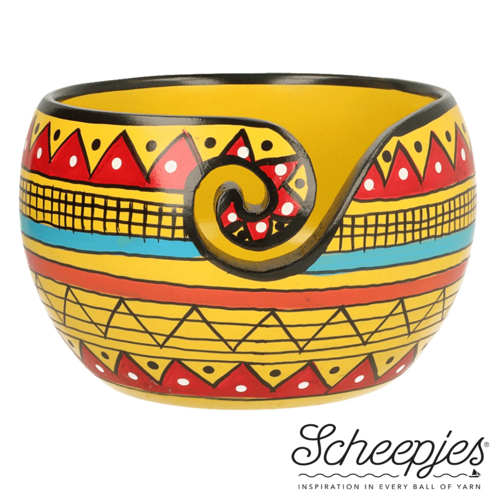 Scheepjes Scheepjes Beschilderde Yarn Bowl  Mango Yellow Stripe