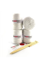 Hoooked Hoooked DIY brei- & haak set Zpagetti Poef Cotton White