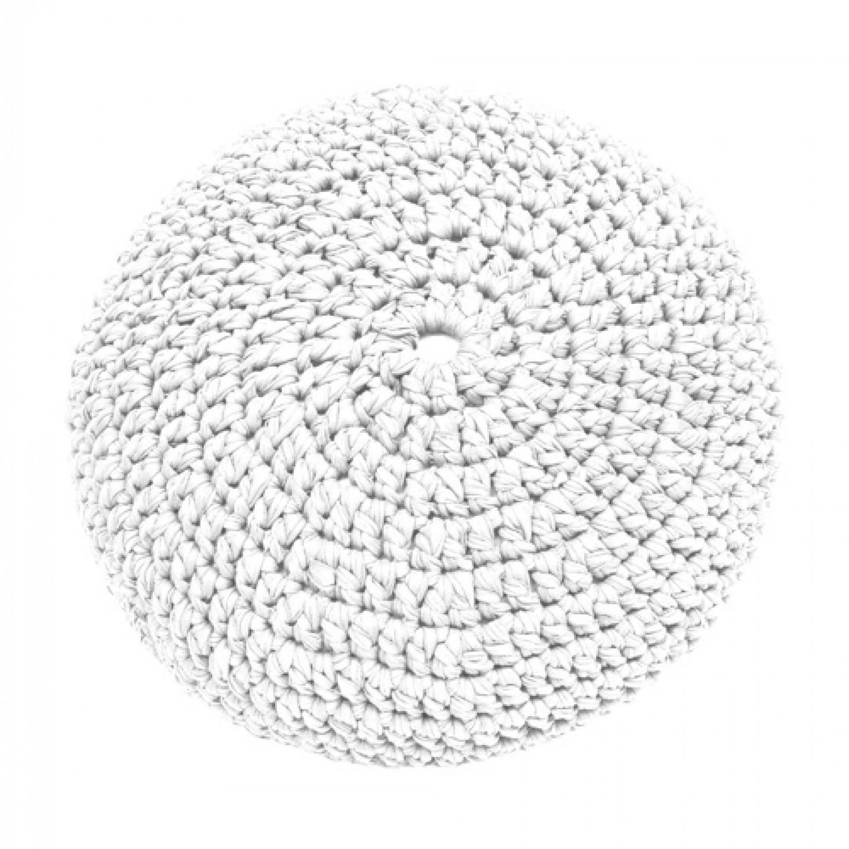 Hoooked Hoooked DIY brei- & haak set Zpagetti Poef Cotton White