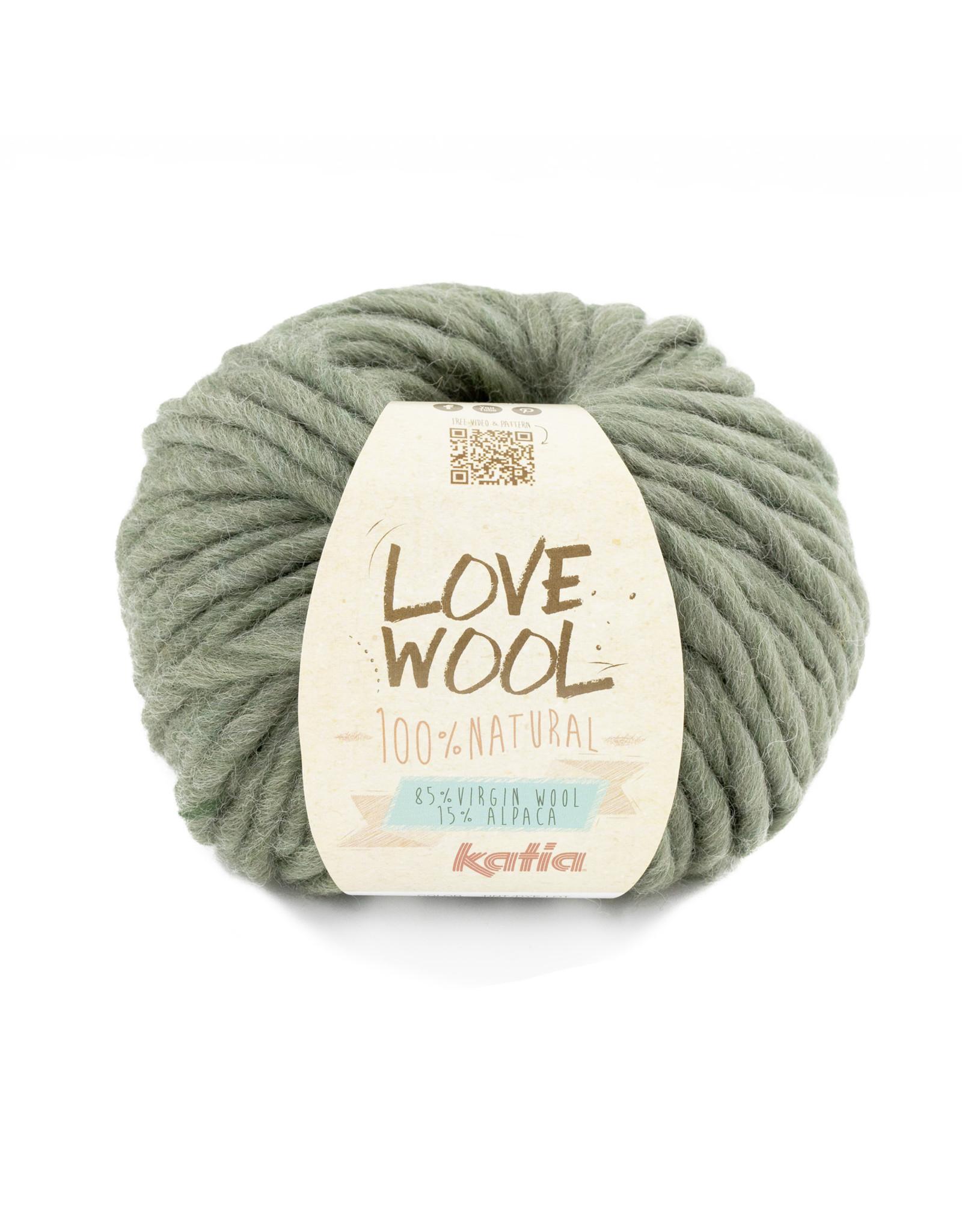 Katia Katia - Love Wool - 127 - Resedagroen - bundel 2 bollen x 100 gr.