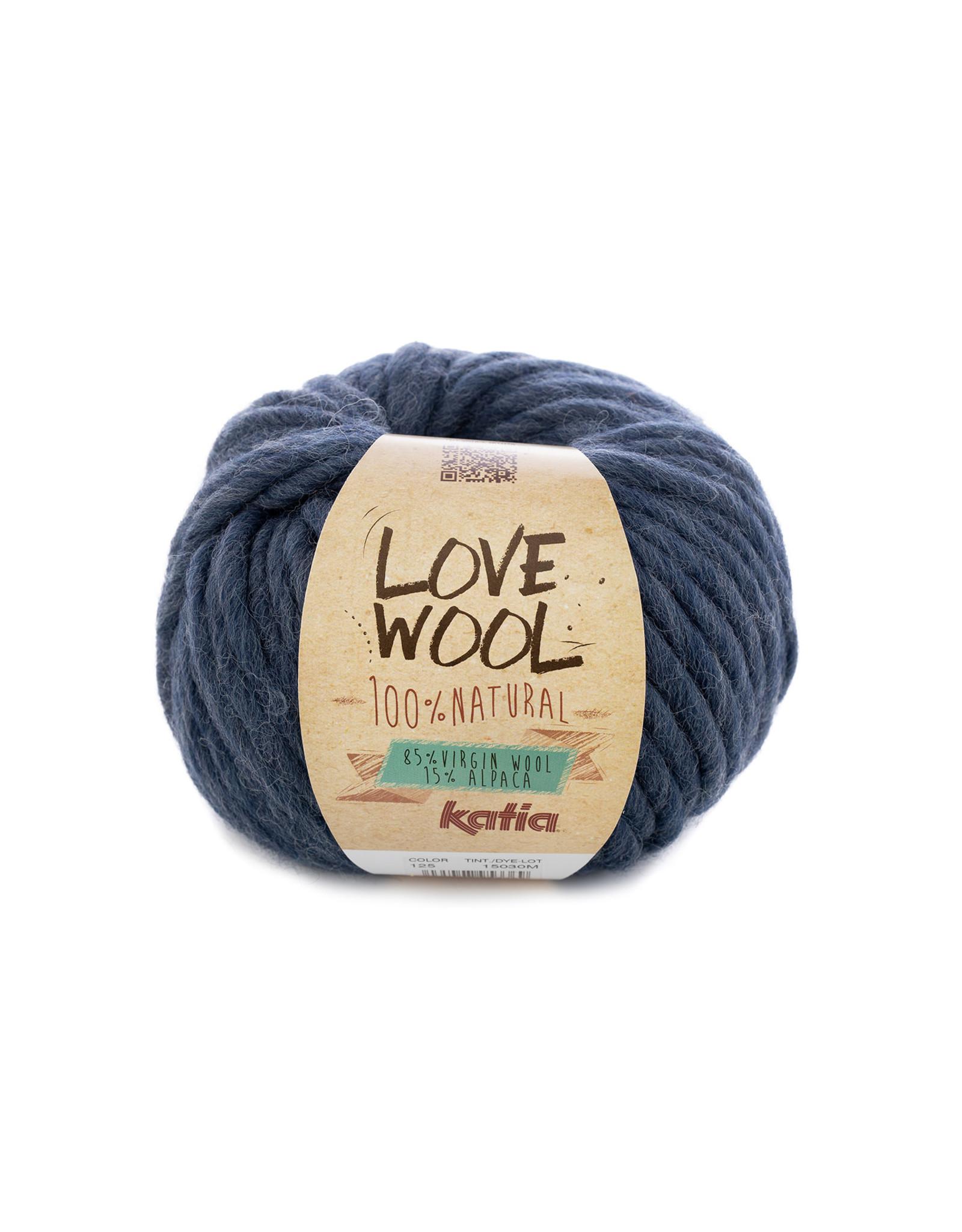 Katia Katia - Love Wool - 125 - Jeans - bundel 2 bollen x 100 gr.