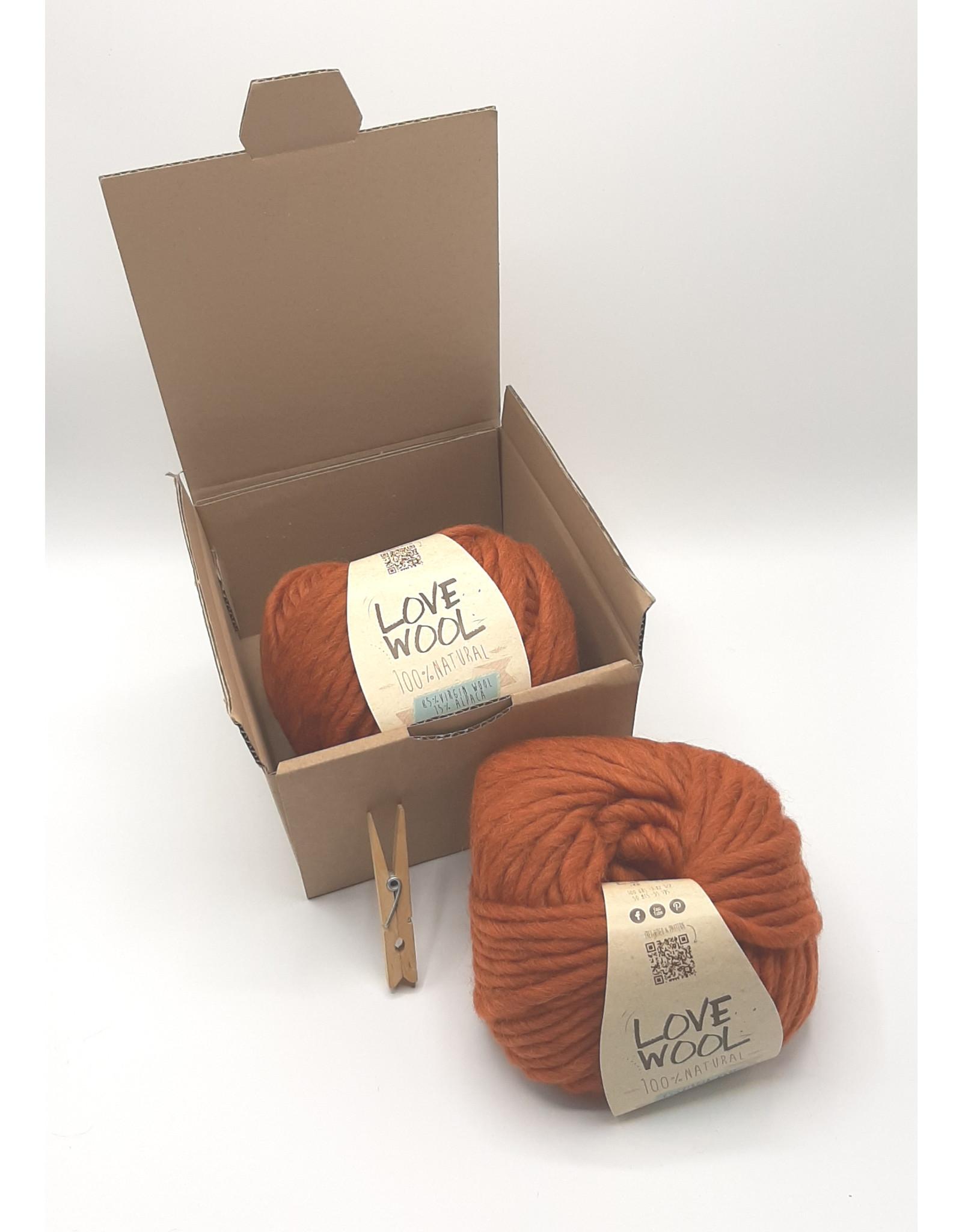 Katia Katia - Love Wool - 114 - Medium oranje - bundel 2 bollen x 100 gr.