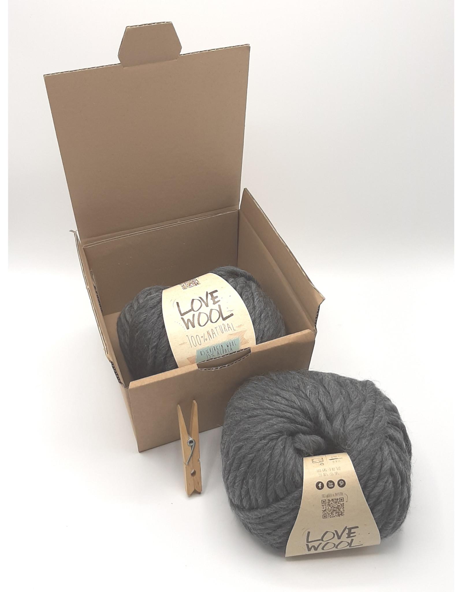Katia Katia - Love Wool - 107 - Grijs - bundel 2 bollen x 100 gr.