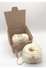 Katia Katia - Love Wool - 100 - Ecru - bundel 2 bollen x 100 gr.