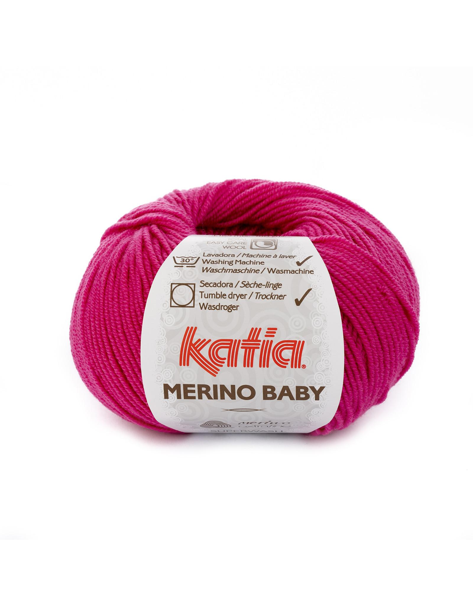Katia Katia Merino Baby - kleur 60 fuchsia - bundel 5 x 50 gr.
