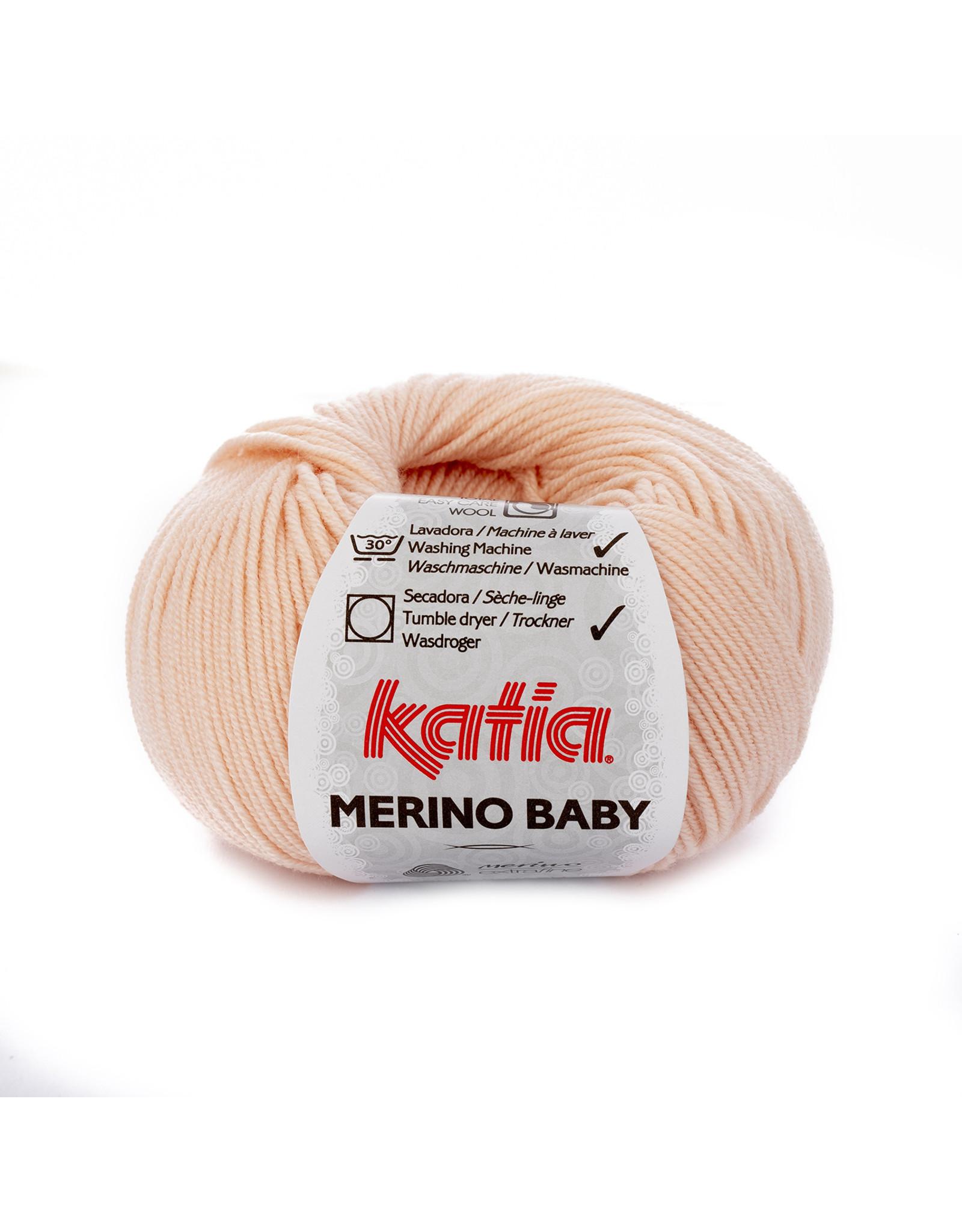 Katia Katia Merino Baby - kleur 81 - Zeer licht bleekrood - bundel 5 x 50 gr.