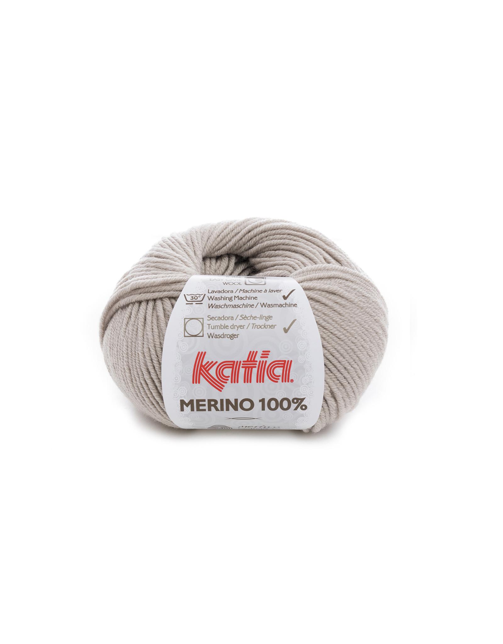Katia Katia Merino 100% - 40 - Steengrijs - bundel 5 x 50 gr.