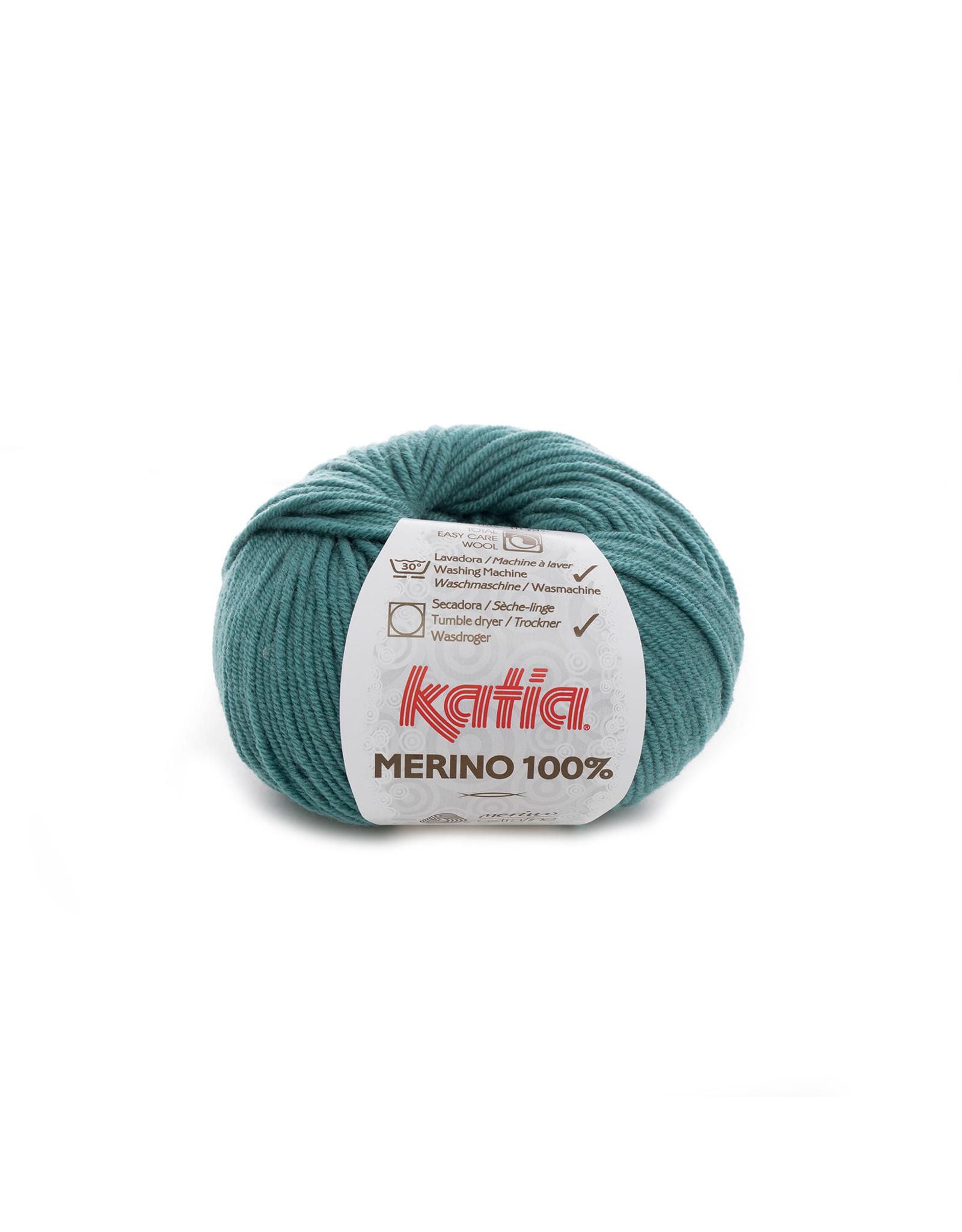 Katia Katia Merino 100% - 54 - Groen - bundel 5 x 50 gr.