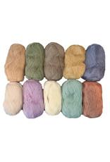 HollandWool kleurassortiment amigurumi 100% wol 10 kleuren x 50 gr./bol = 10 bollen