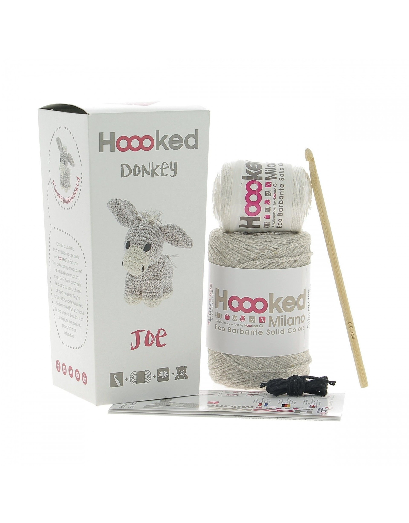 Hoooked Hoooked Amigurumi DIY Haakpakket Ezel Joe incl. 250 gr. vulling