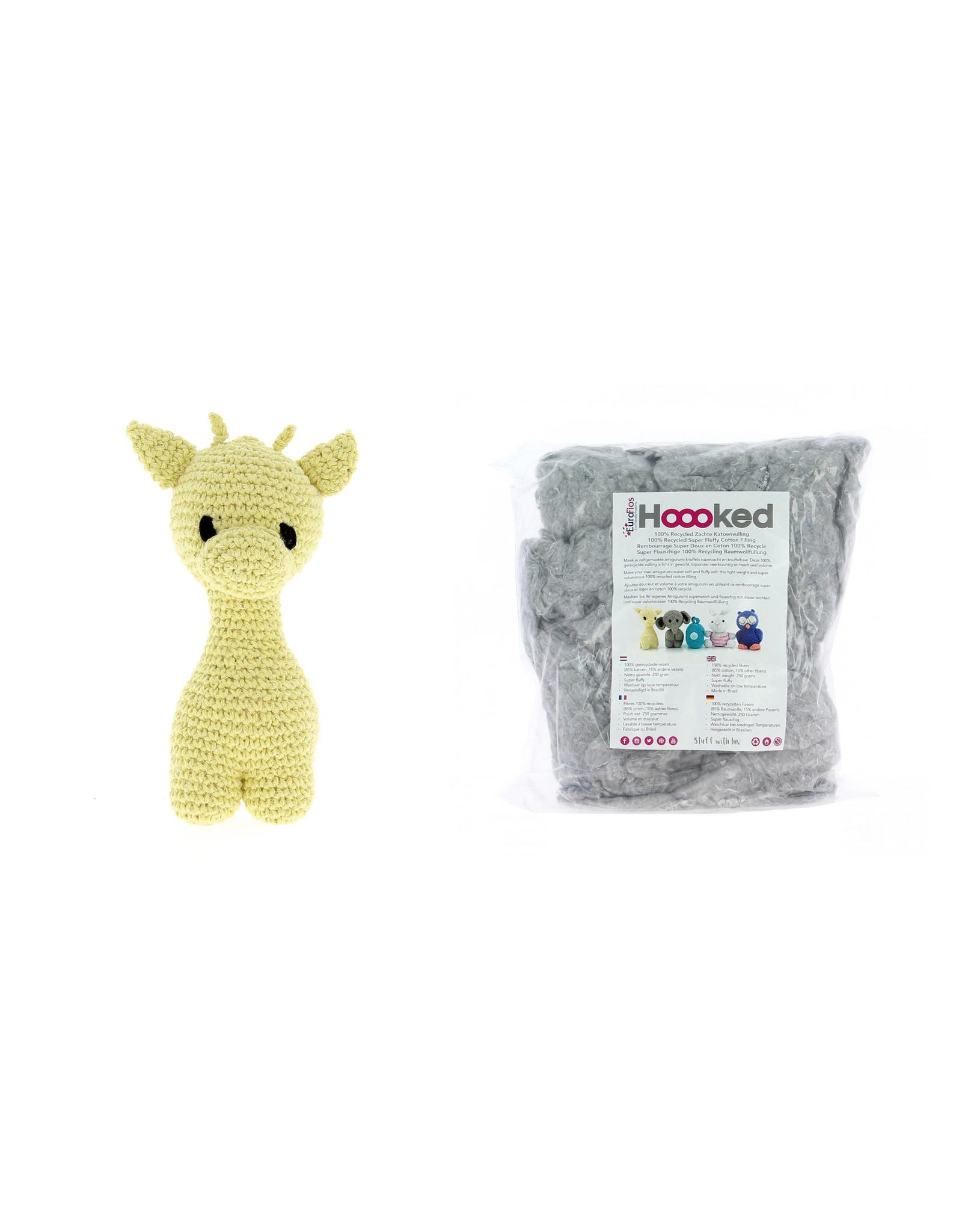 Hoooked Hoooked Amigurumi DIY haakpakket Giraffe Eco Barbante Popcorn incl. vulling