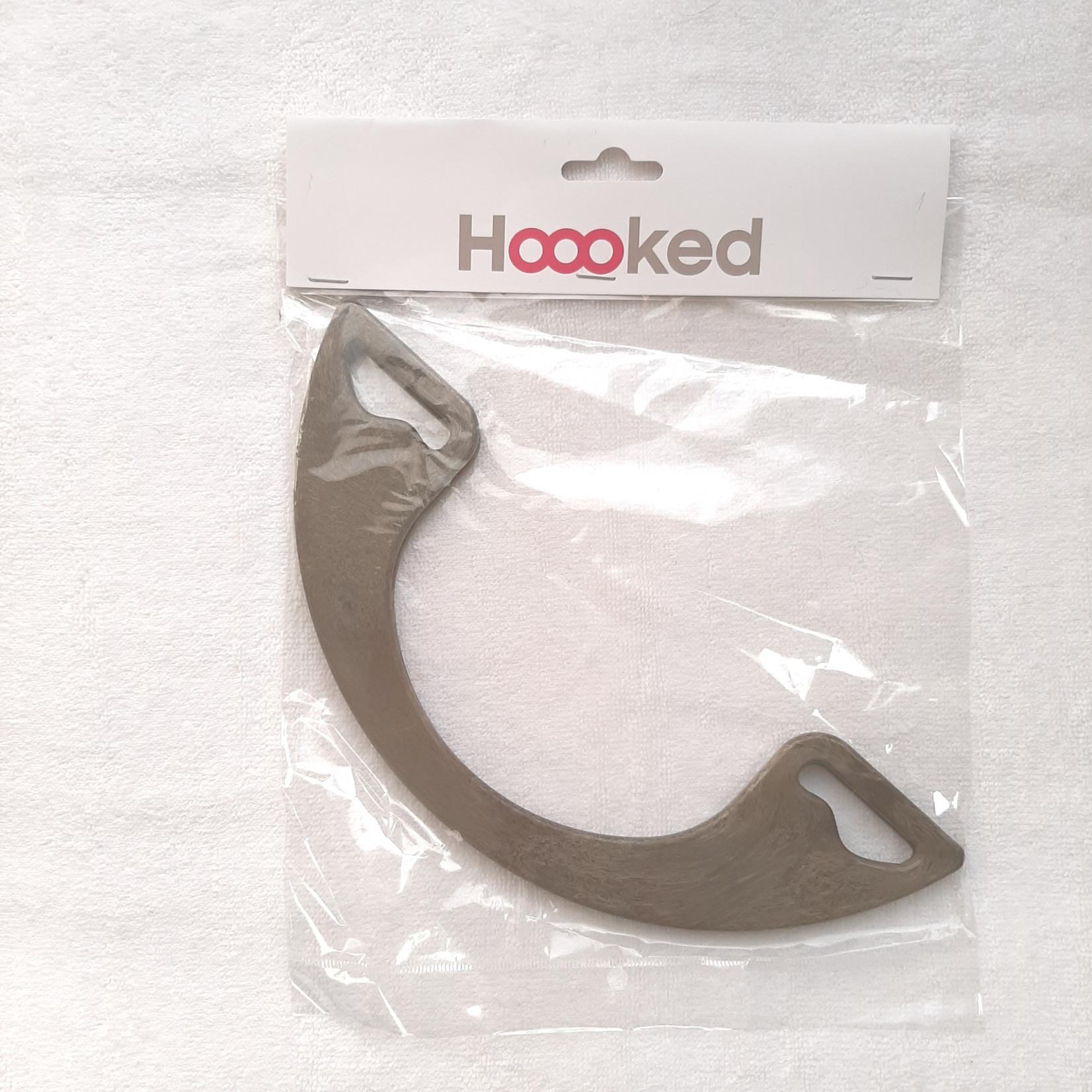 Hoooked Hoooked Bag Handle Half Moon Brown