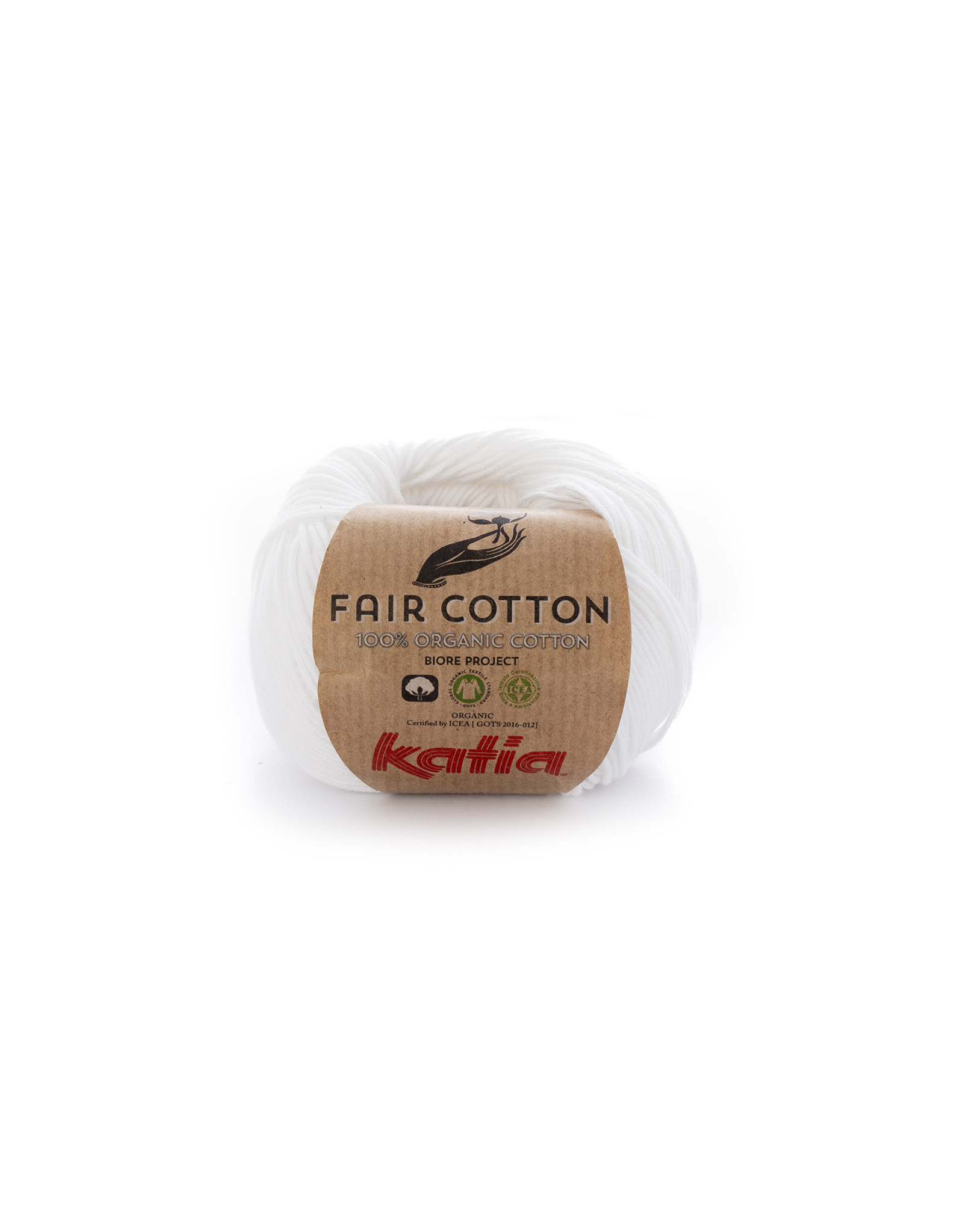 Katia Katia Fair Cotton - kleur 1 - wit- 50 gr. - 100% biol. katoen