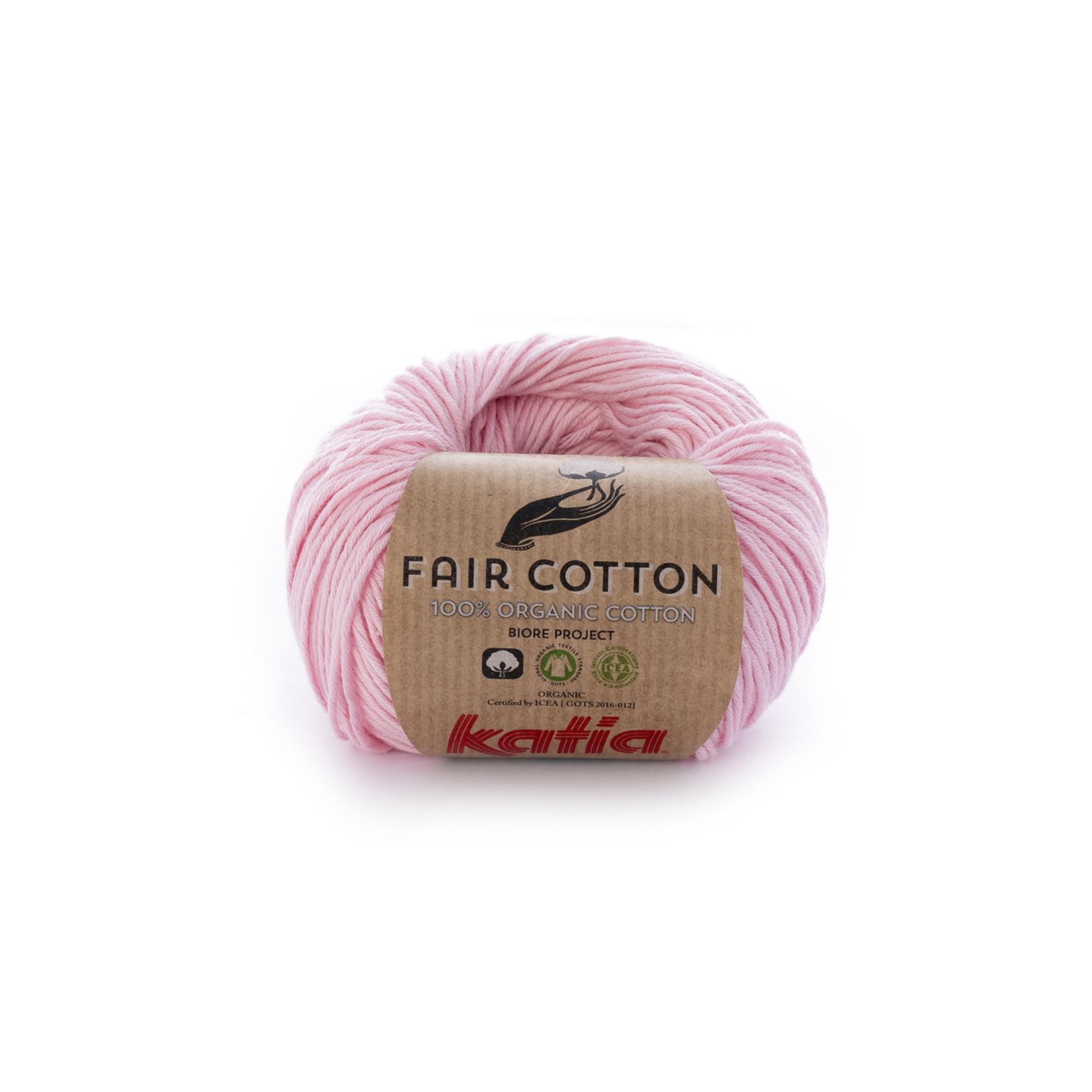 Katia Katia Fair Cotton 9 - bleekrood - 1 bol = 50 gr. = 155 m. - 100% biol. katoen