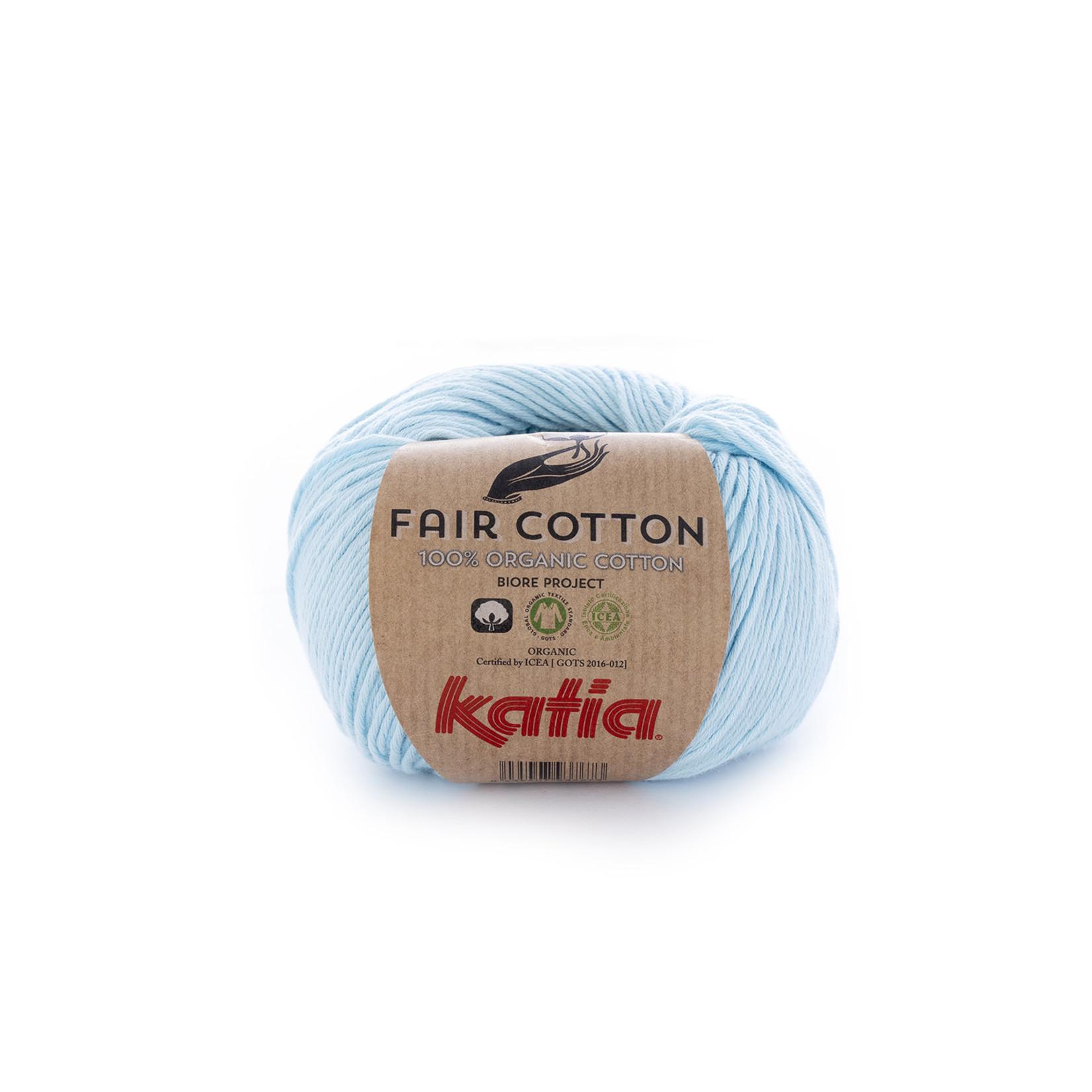 Katia Katia Fair Cotton 8 - licht hemelsblauw - 1 bol = 50 gr. = 155 m. - 100% biol. katoen