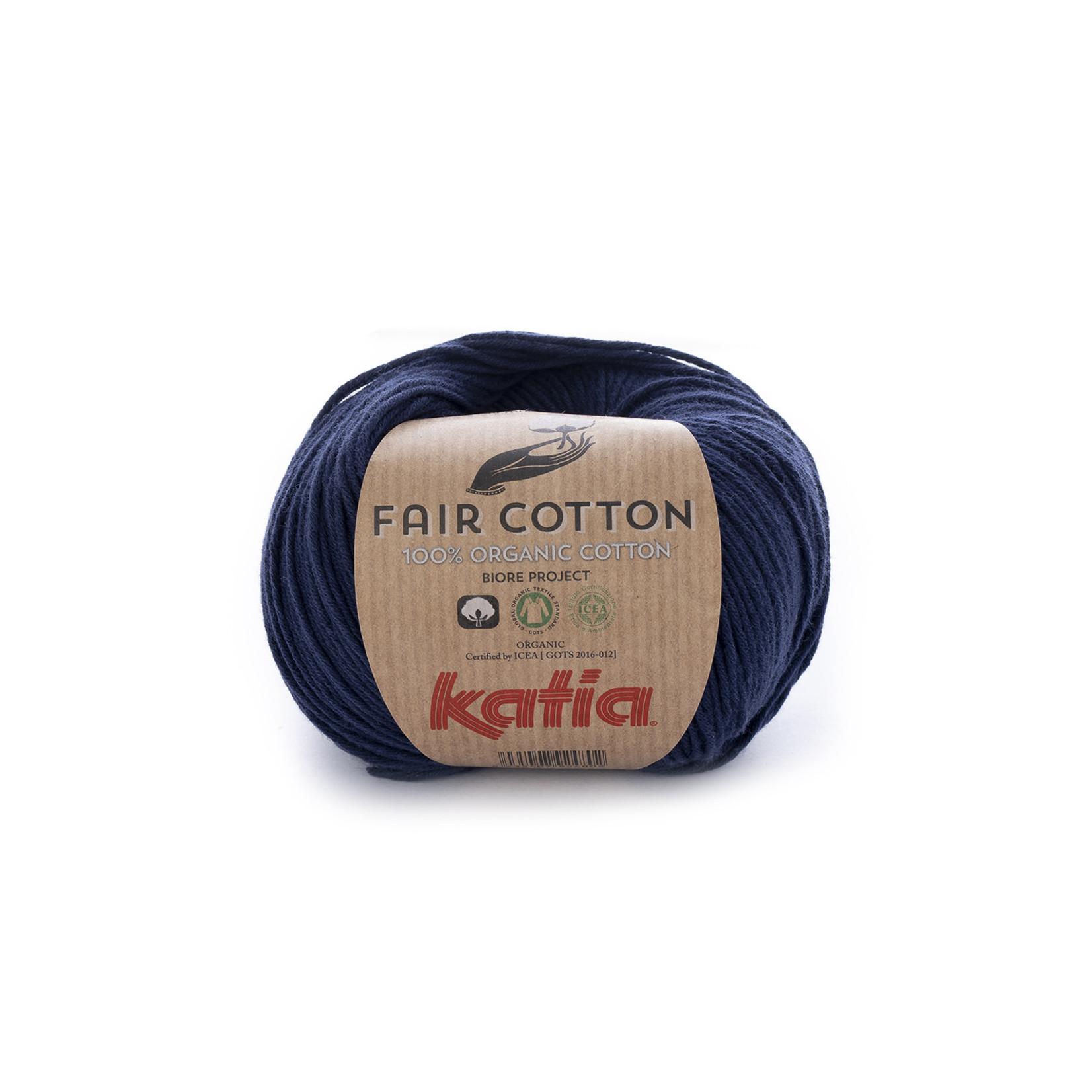 Katia Katia Fair Cotton 5 - donkerblauw - 1 bol = 50 gr. = 155 m. - 100% biol. katoen