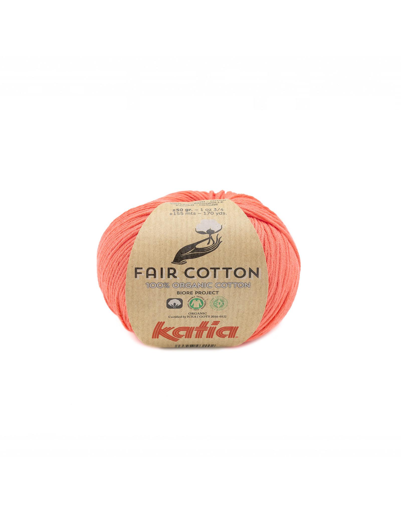 Katia Katia Fair Cotton 44 - donker zalmoranje - 50 gr. - 100% biol. katoen