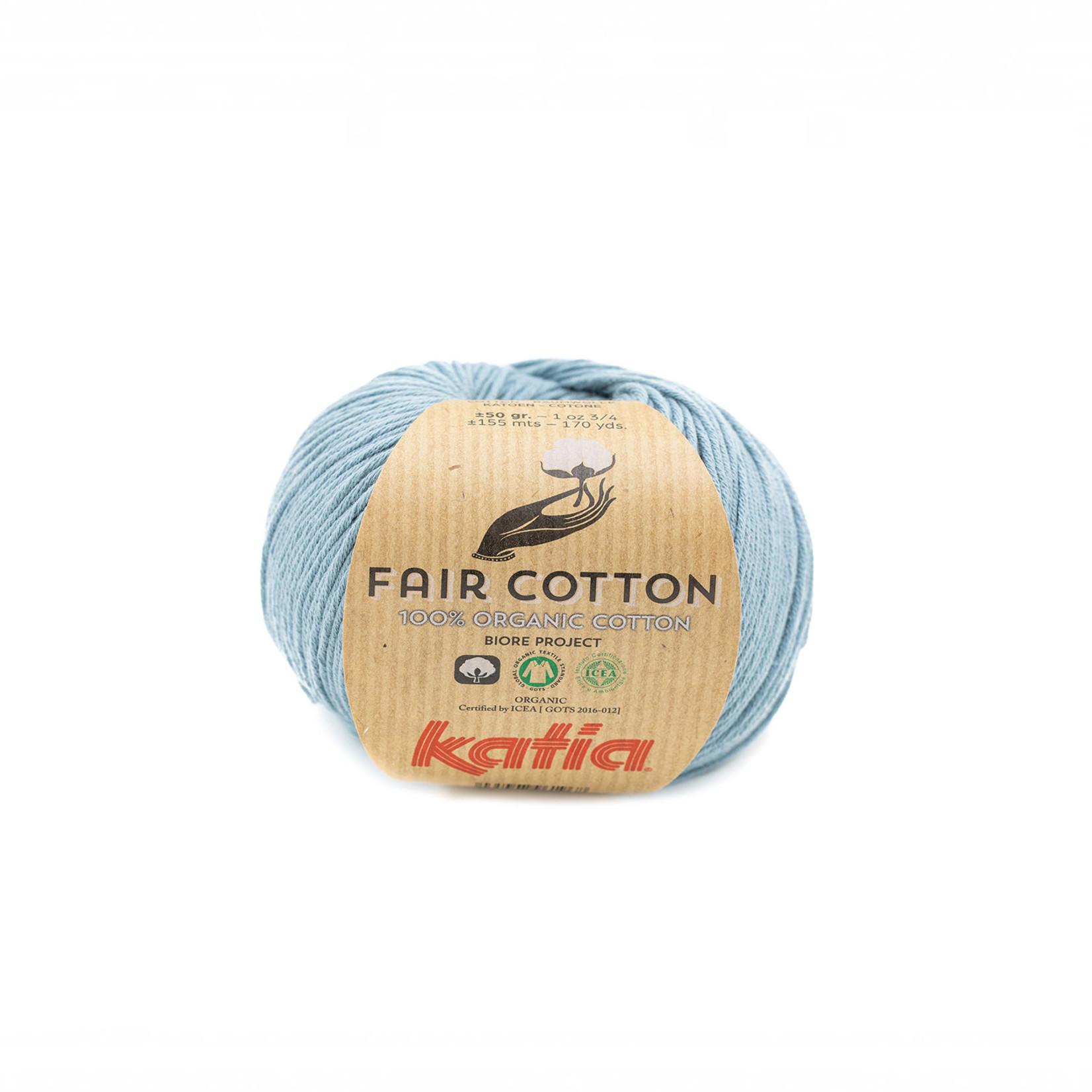 Katia Katia Fair Cotton 41 - grijsblauw - 1 bol = 50 gr. = 155 m. - 100% biol. katoen