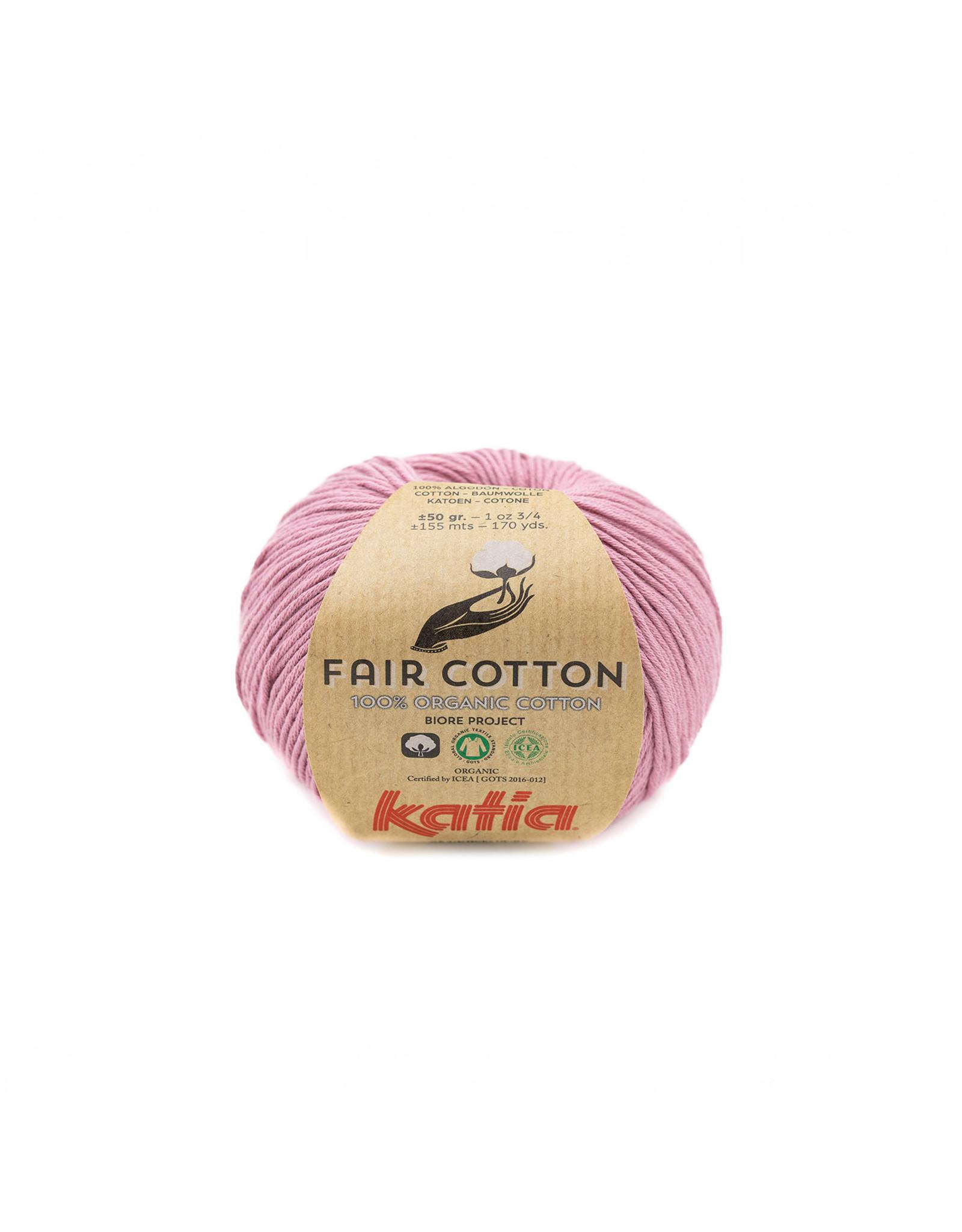 Katia Katia Fair Cotton  40 - licht medium paars - - 50 gr. - 100% biol. katoen