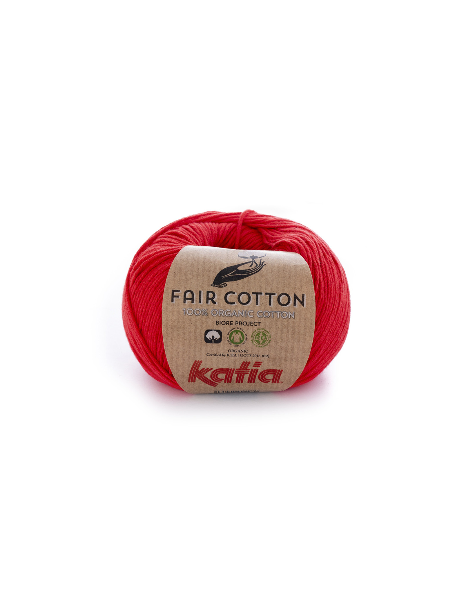 Katia Katia Fair Cotton  4 - rood - - 50 gr. - 100% biol. katoen