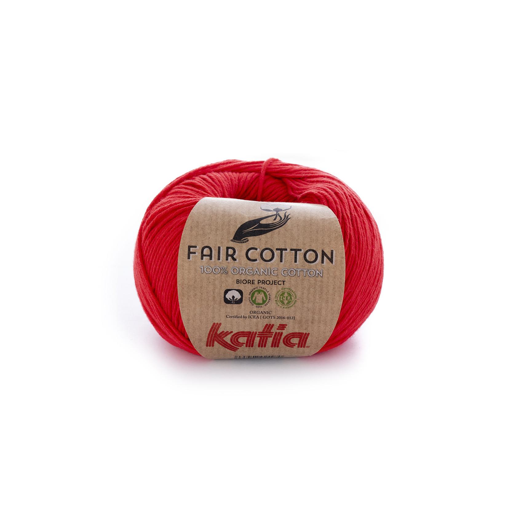 Katia Katia Fair Cotton 4 - rood - 1 bol = 50 gr. = 155 m. - 100% biol. katoen