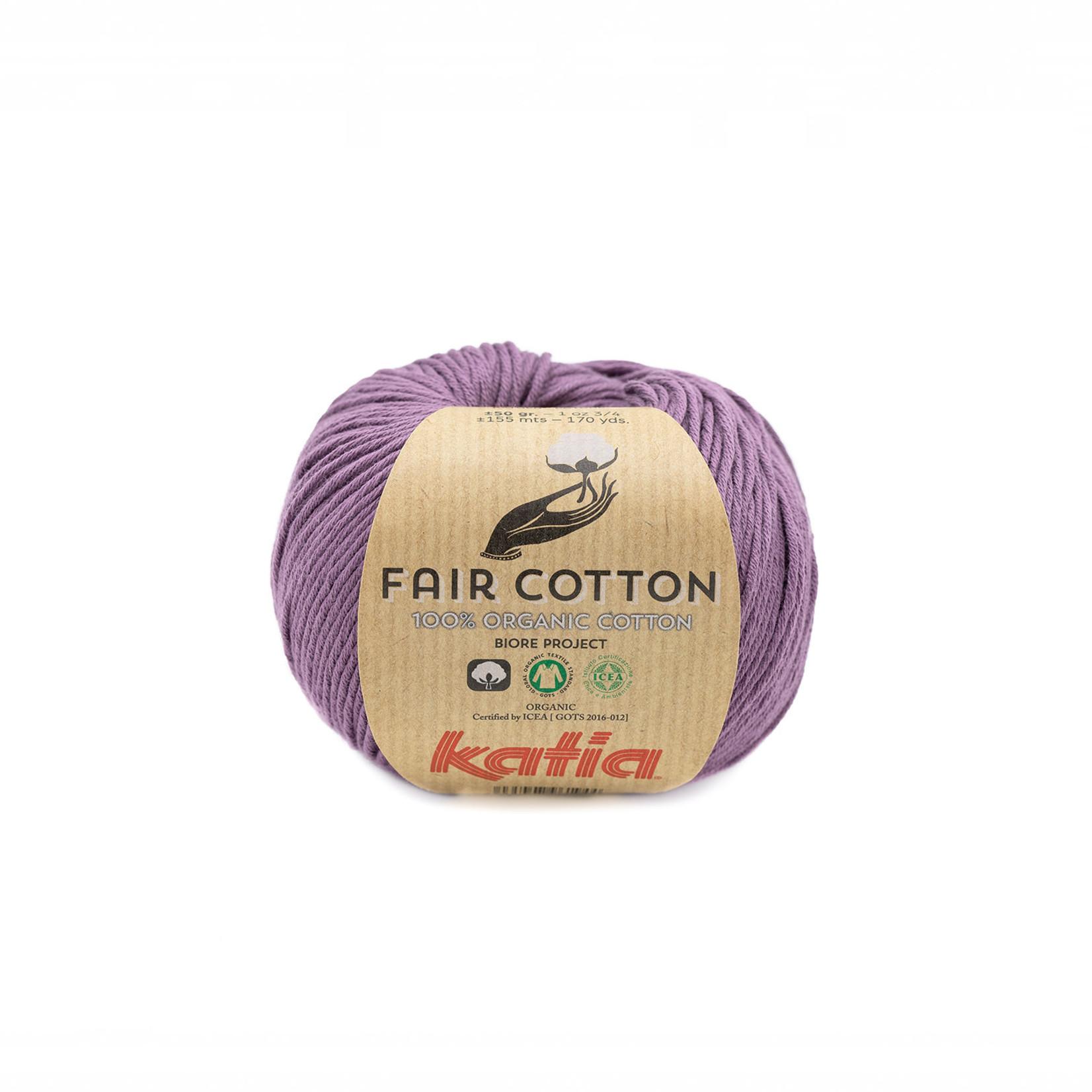 Katia Katia Fair Cotton 39 - donkerpaars - 1 bol = 50 gr. = 155 m. - 100% biol. katoen