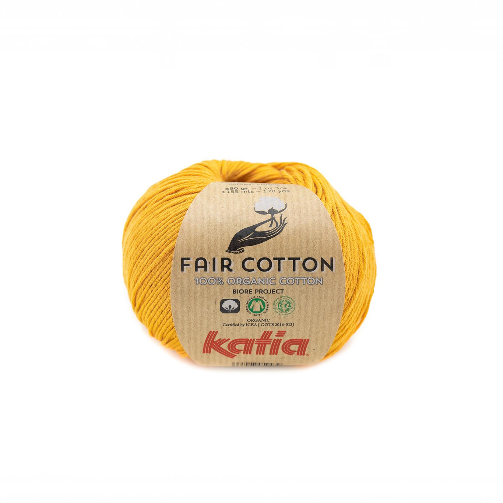Katia Katia Fair Cotton 37 - mosterdgeel - 1 bol = 50 gr. = 155 m. - 100% biol. katoen