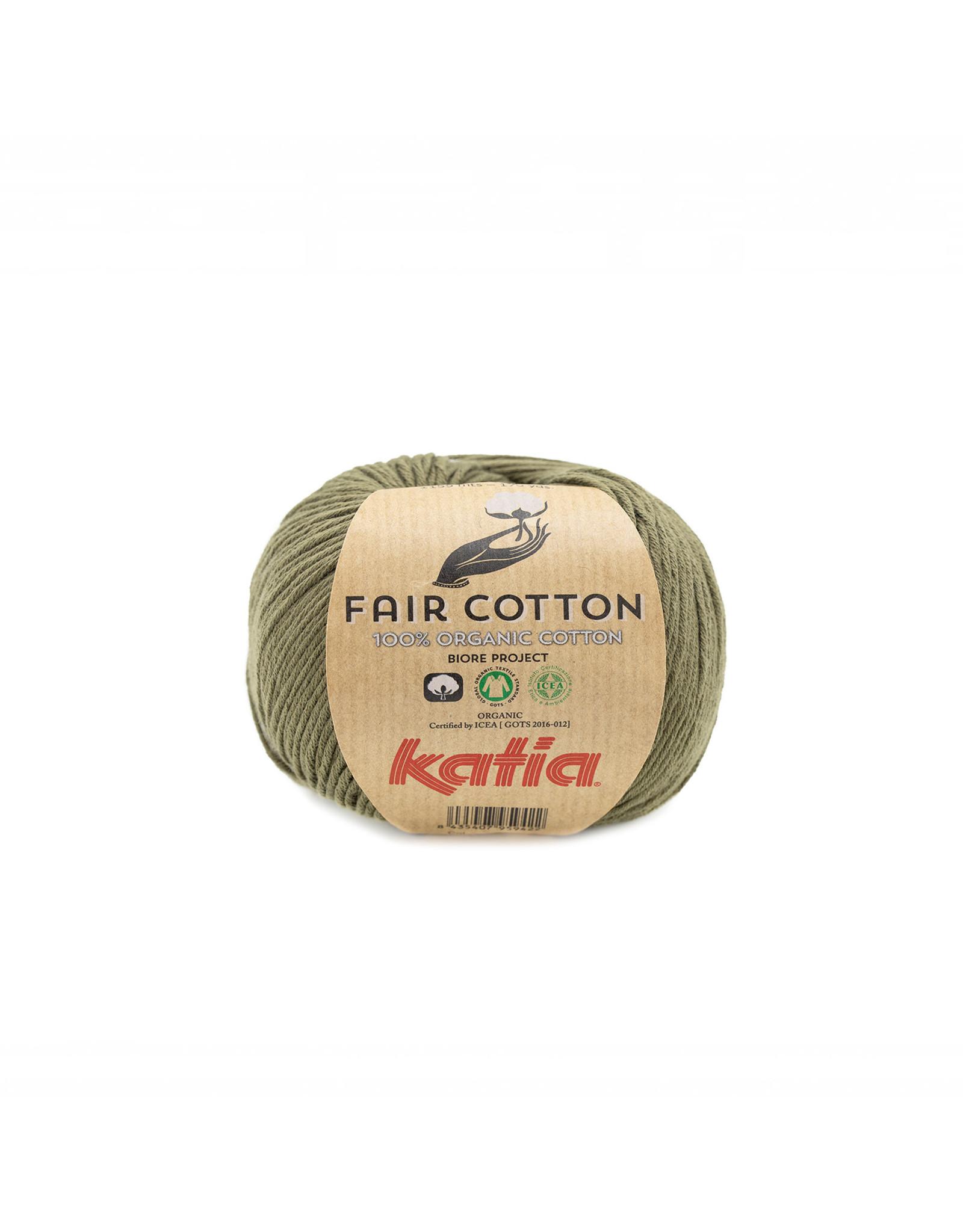 Katia Katia Fair Cotton 36 - kaki - 50 gr. - 100% biol. katoen