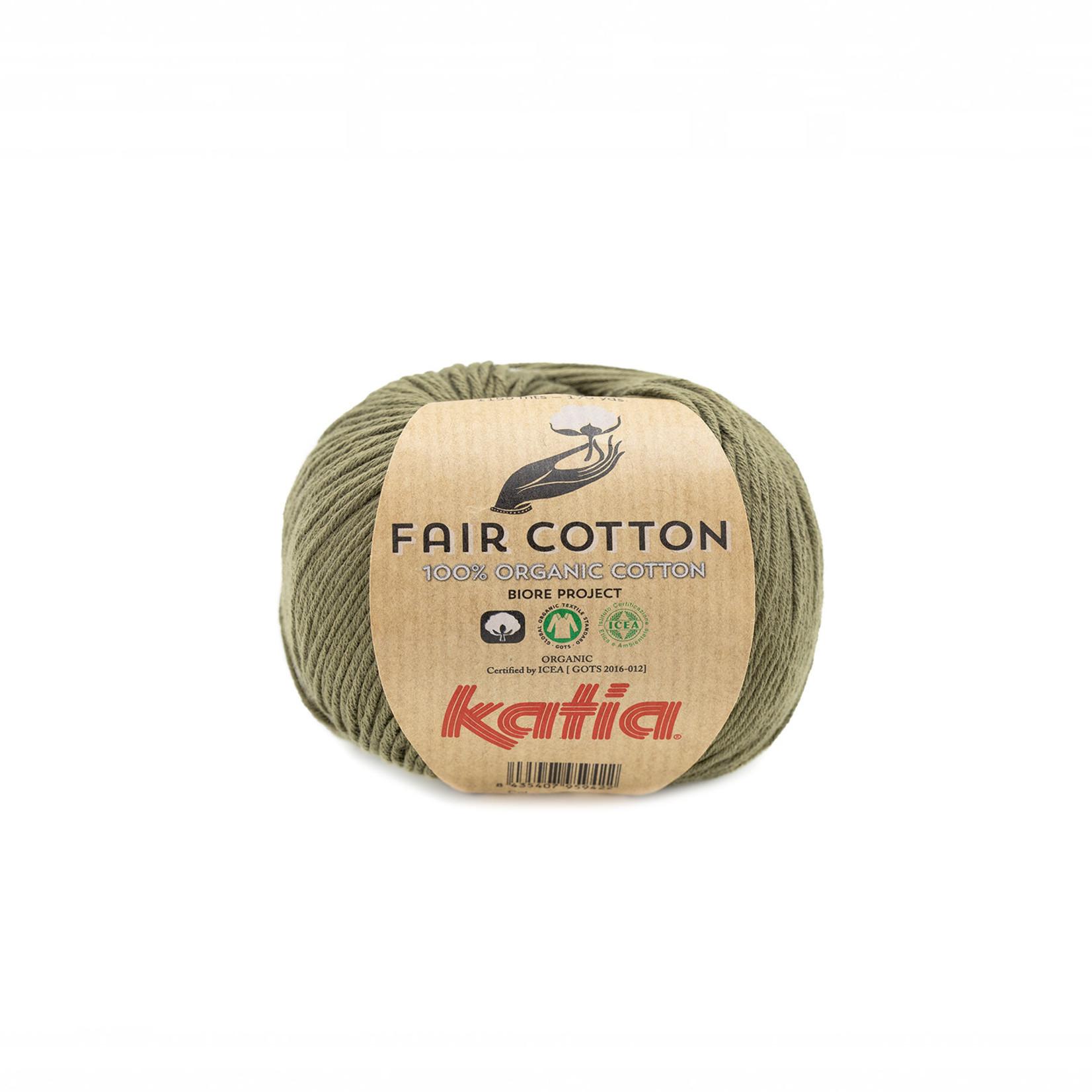 Katia Katia Fair Cotton 36 - kaki - 1 bol = 50 gr. = 155 m. - 100% biol. katoen