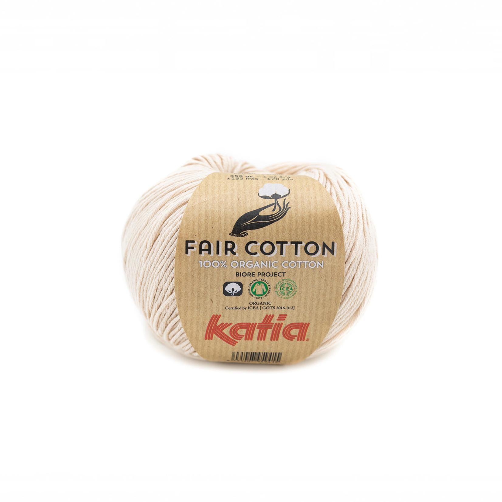 Katia Katia Fair Cotton 35 - beige - 1 bol = 50 gr. = 155 m. - 100% biol. katoen