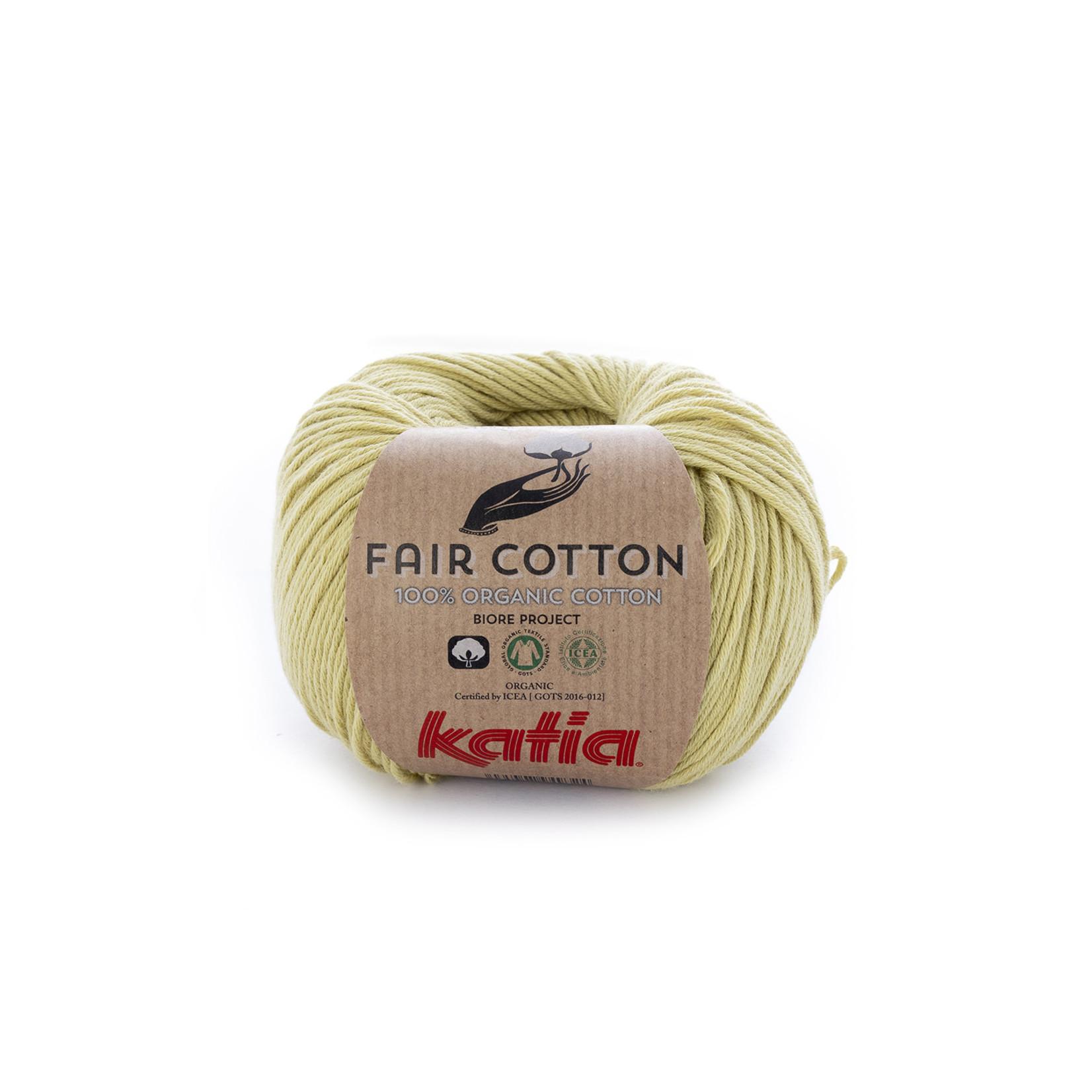 Katia Katia Fair Cotton 34 - pistache - 1 bol = 50 gr. = 155 m. - 100% biol. katoen
