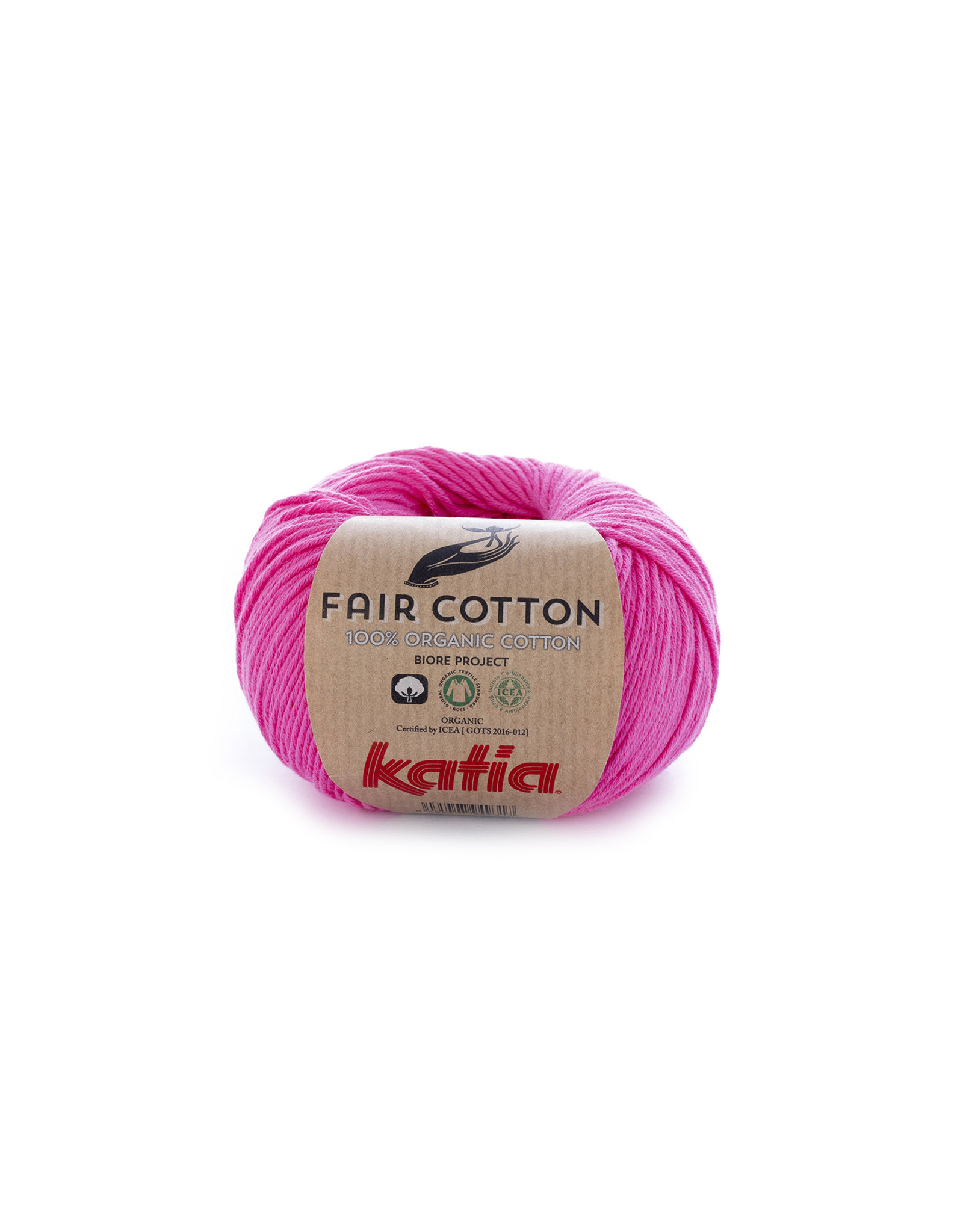 Katia Katia Fair Cotton 33 - roze - 1 bol = 50 gr. = 155 m. - 100% biol. katoen