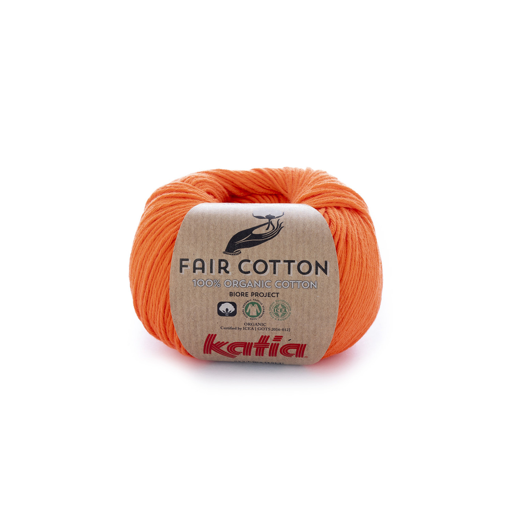 Katia Katia Fair Cotton 31 - oranje - 1 bol = 50 gr. = 155 m. - 100% biol. katoen