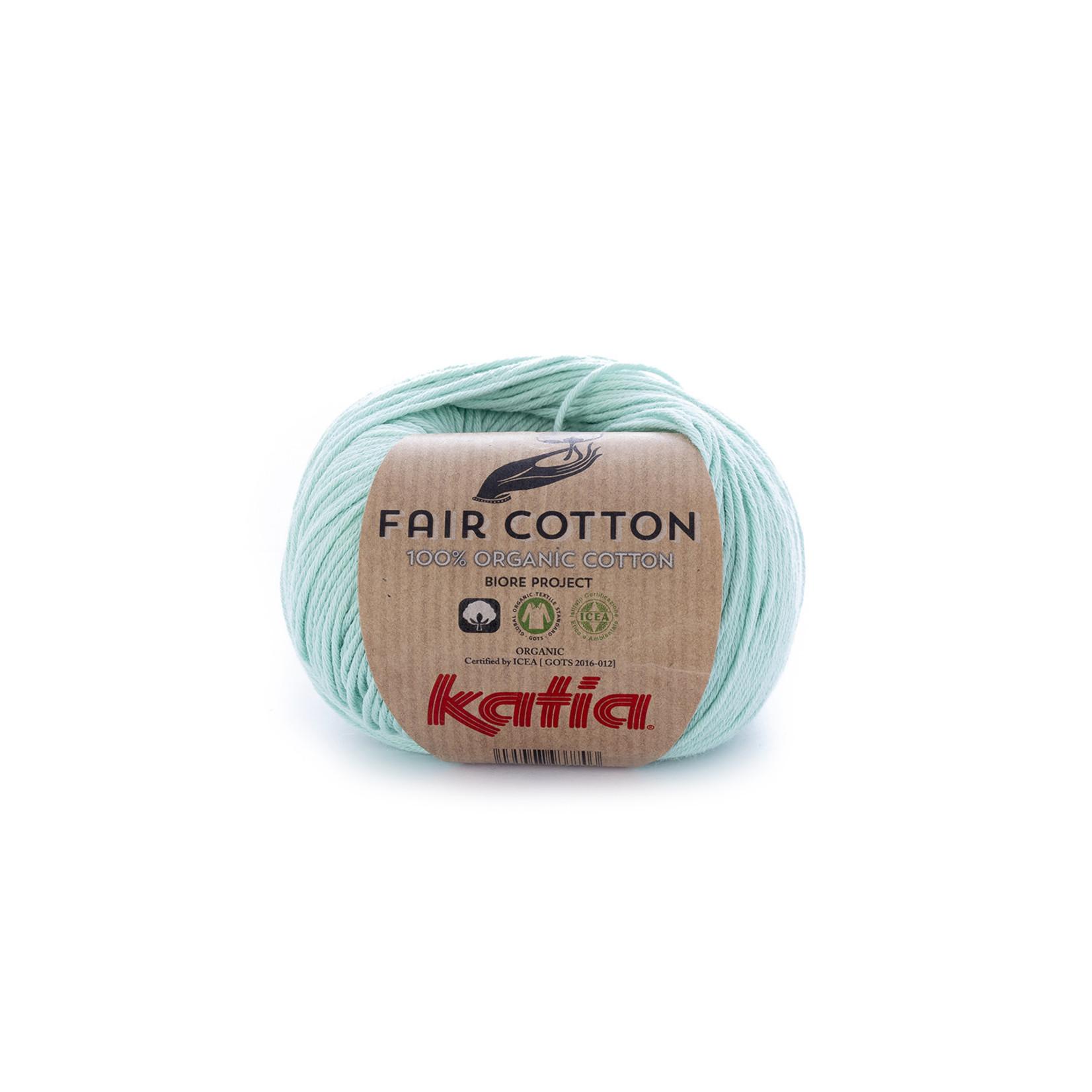 Katia Katia Fair Cotton 29 - witgroen - 1 bol = 50 gr. = 155 m. - 100% biol. katoen