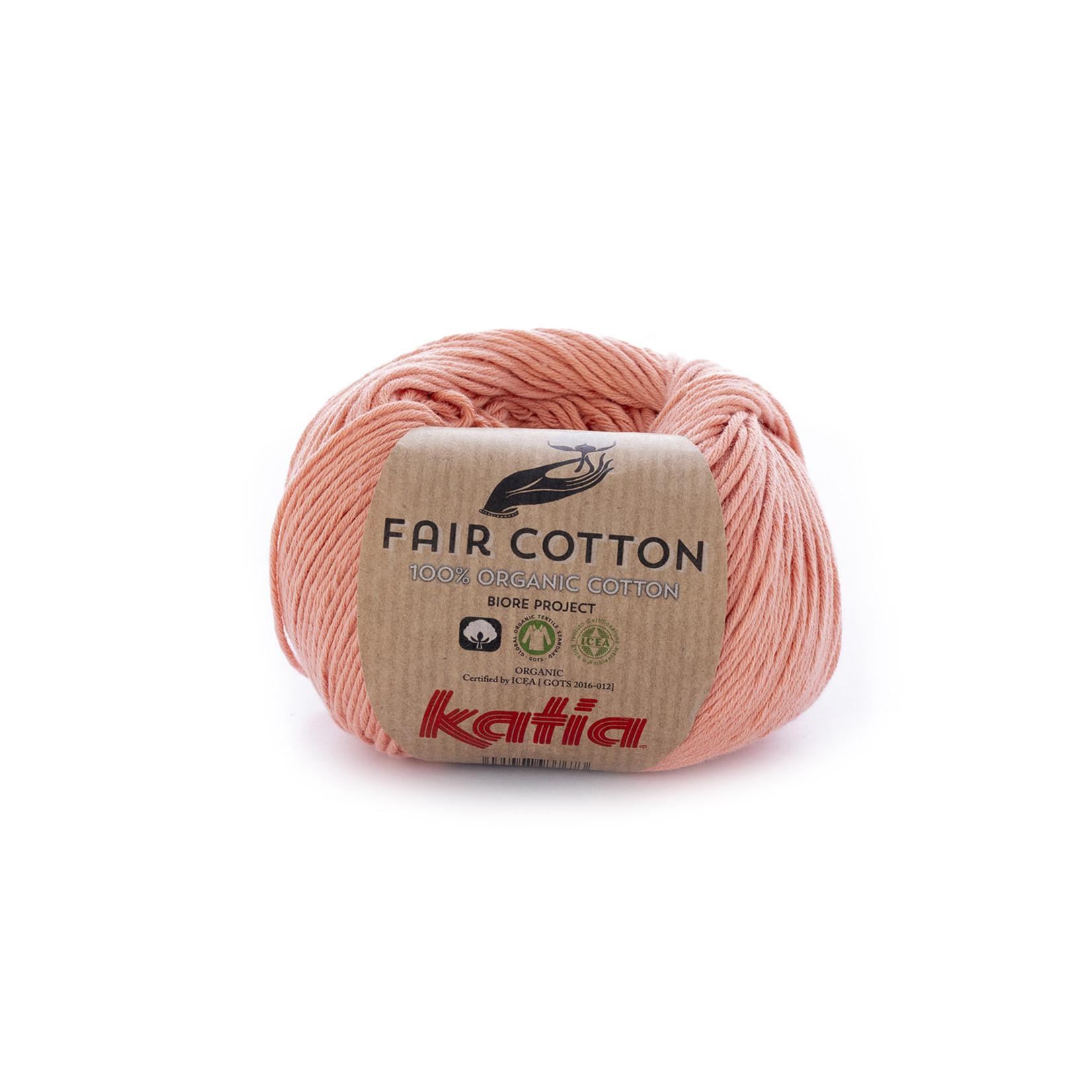 Katia Katia Fair Cotton 28 - licht zalmoranje - 1 bol = 50 gr. = 155 m. - 100% biol. katoen