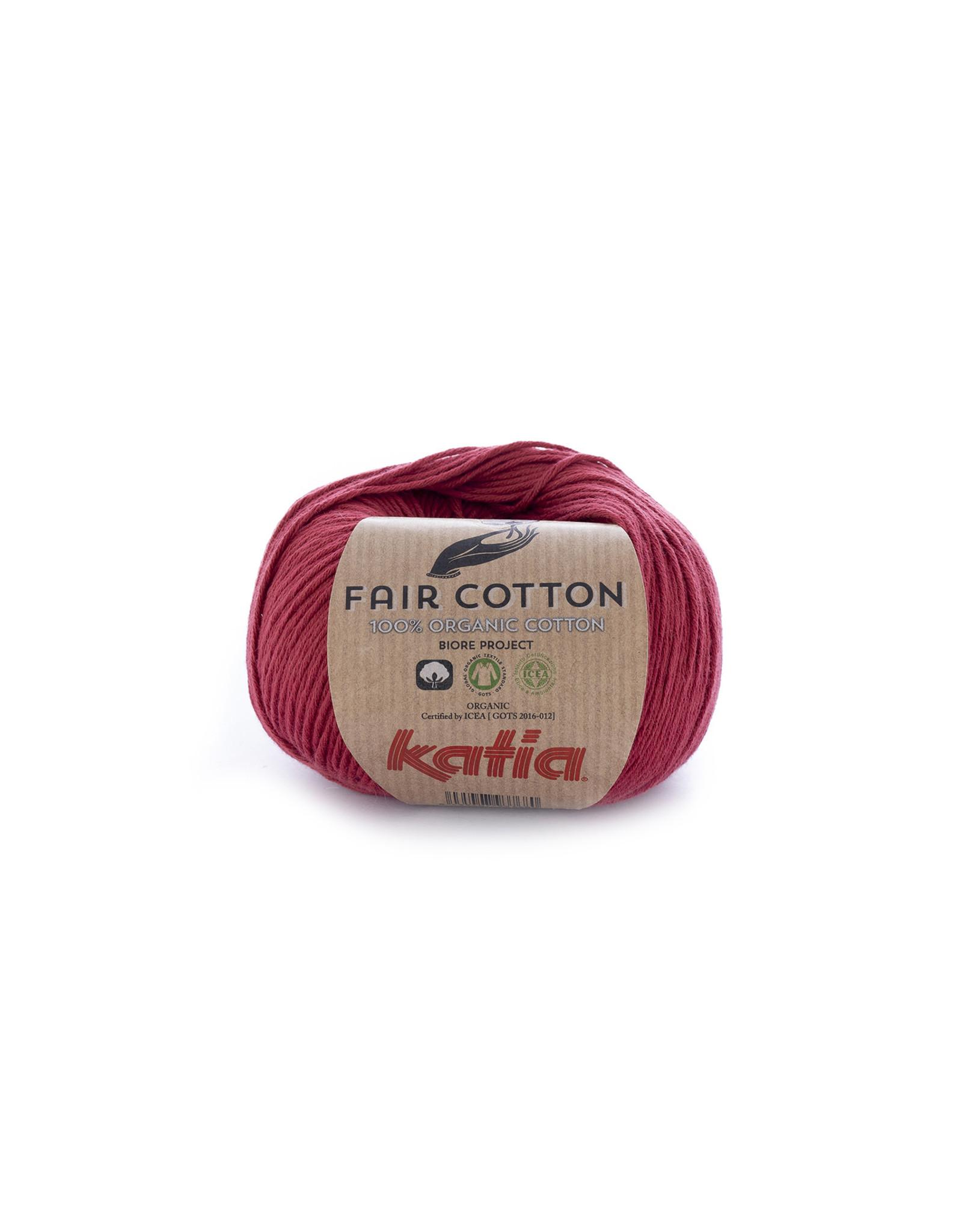 Katia Katia Fair Cotton 27 - wijnrood - 50 gr. - 100% biol. katoen