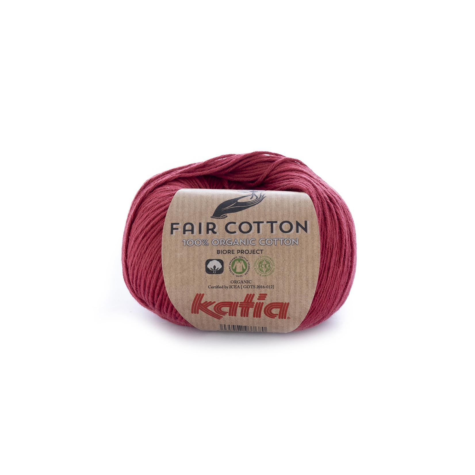 Katia Katia Fair Cotton 27 - wijnrood - 1 bol = 50 gr. = 155 m. - 100% biol. katoen