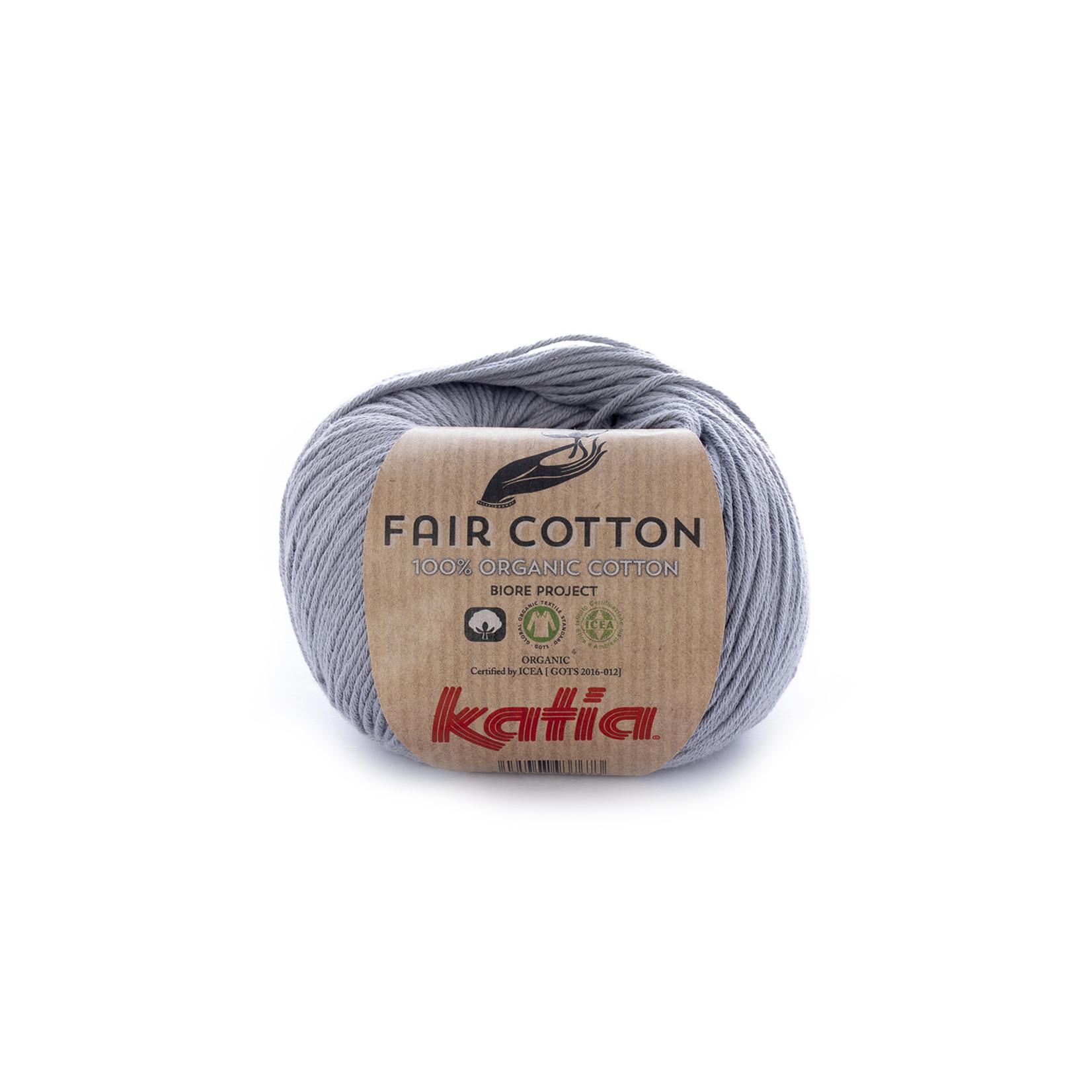 Katia Katia Fair Cotton 26 - medium grijs - 1 bol = 50 gr. = 155 m. - 100% biol. katoen