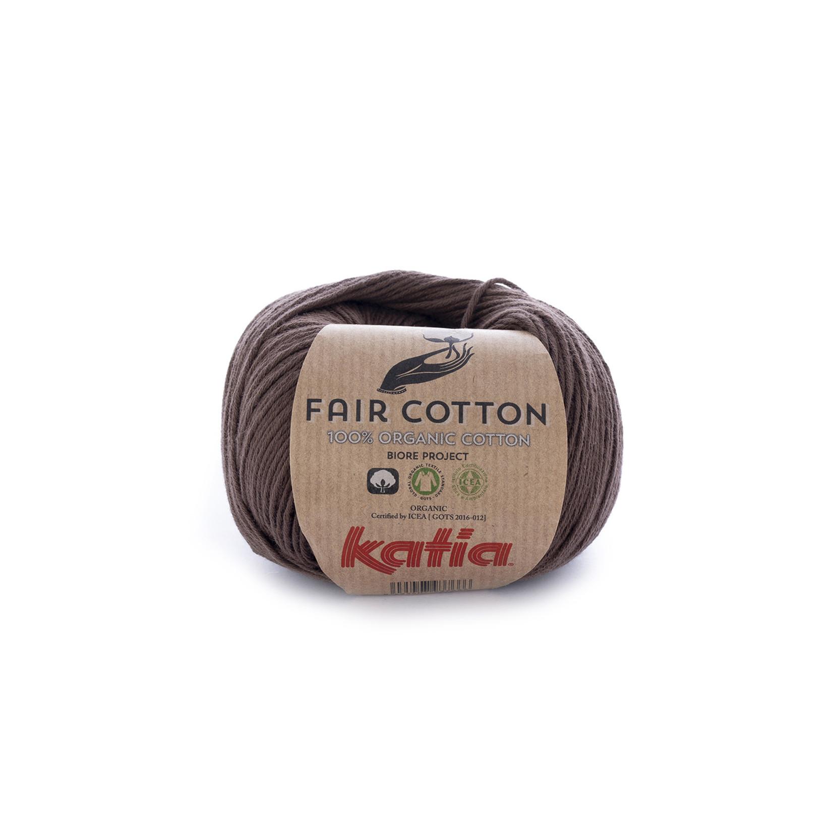 Katia Katia Fair Cotton 25 - bruin - 1 bol = 50 gr. = 155 m. - 100% biol. katoen