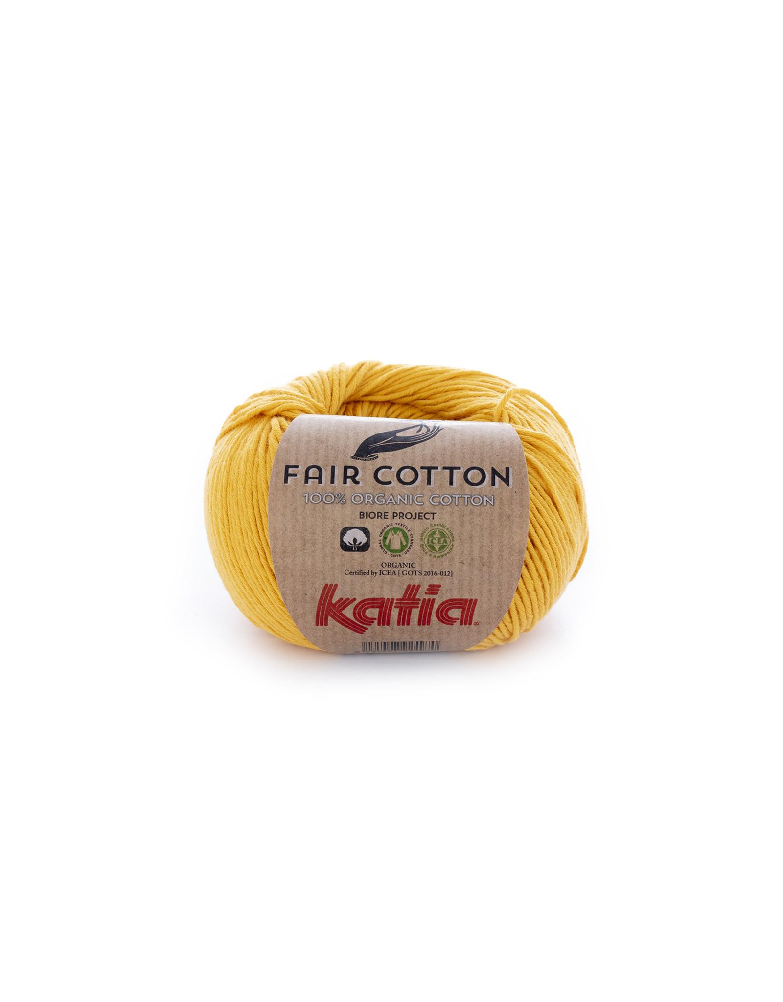 Katia Katia Fair Cotton 20 - geel - 50 gr. - 100% biol. katoen
