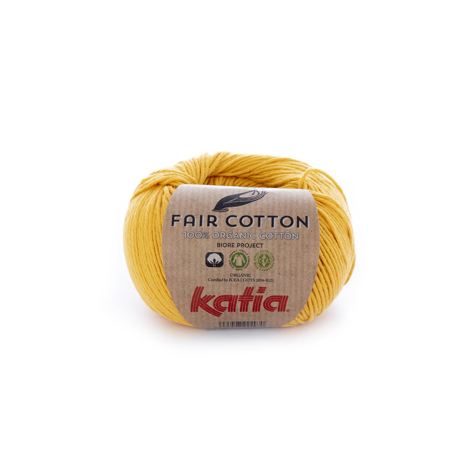 Katia Katia Fair Cotton 20 - geel - 1 bol = 50 gr. = 155 m. - 100% biol. katoen