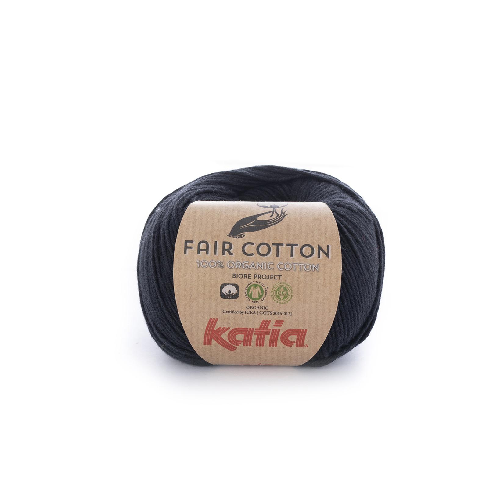Katia Katia Fair Cotton 2 - zwart- 1 bol = 50 gr. = 155 m. - 100% biol. katoen