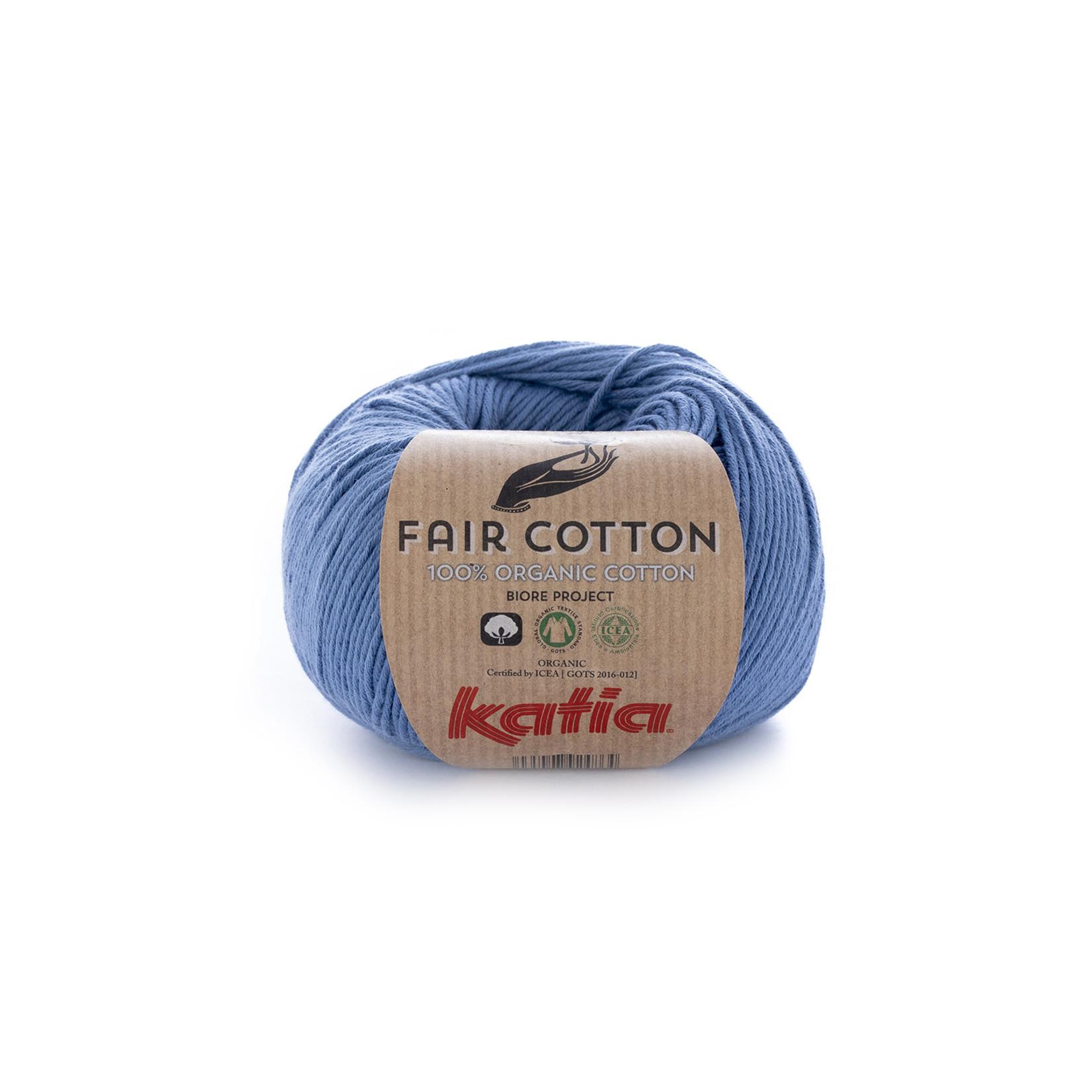Katia Katia Fair Cotton 18 - jeans - 1 bol = 50 gr. = 155 m. - 100% biol. katoen