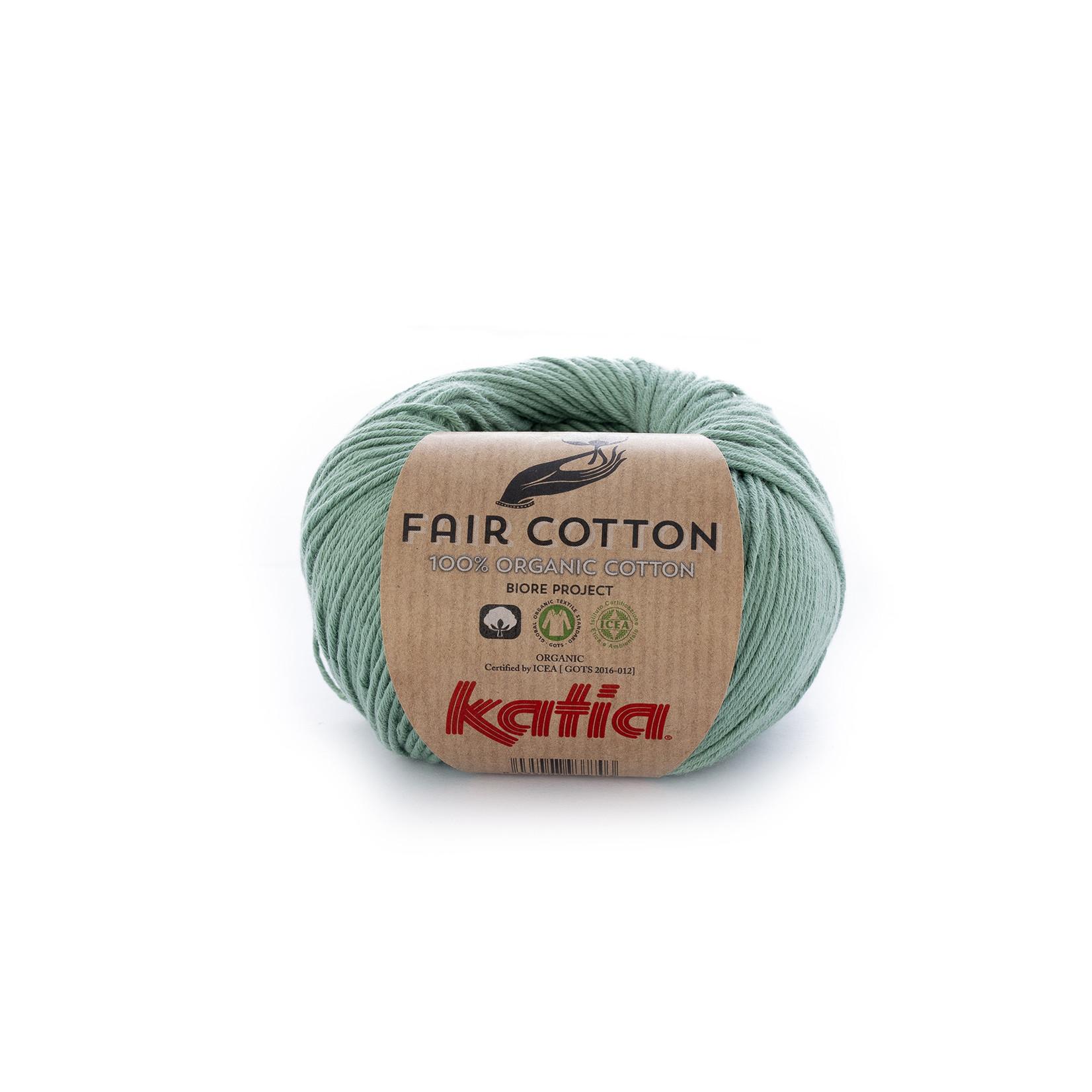Katia Katia Fair Cotton 17 - mintgroen - 1 bol = 50 gr. = 155 m. - 100% biol. katoen