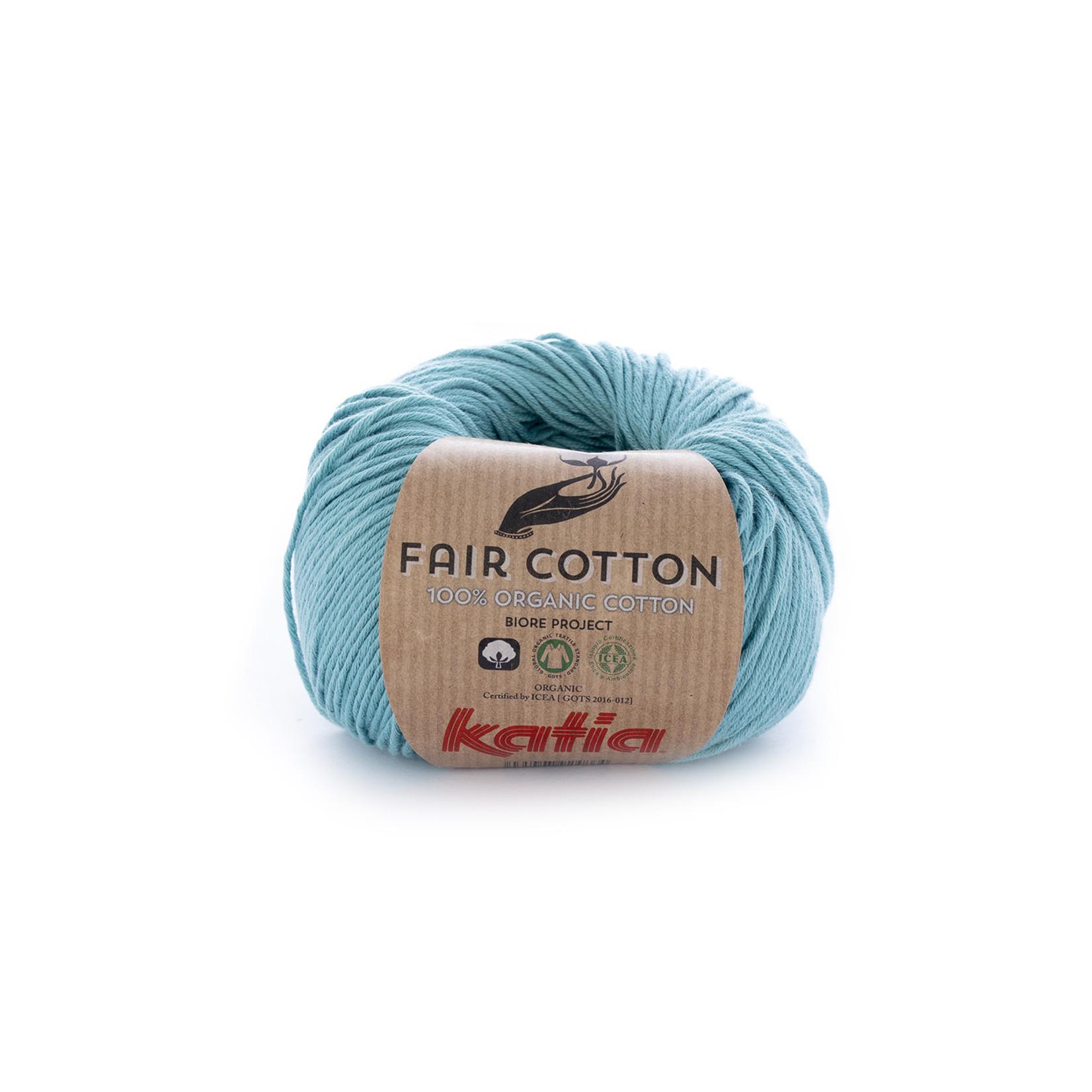 Katia Katia Fair Cotton 16 - turquoise - 1 bol = 50 gr. = 155 m. - 100% biol. katoen