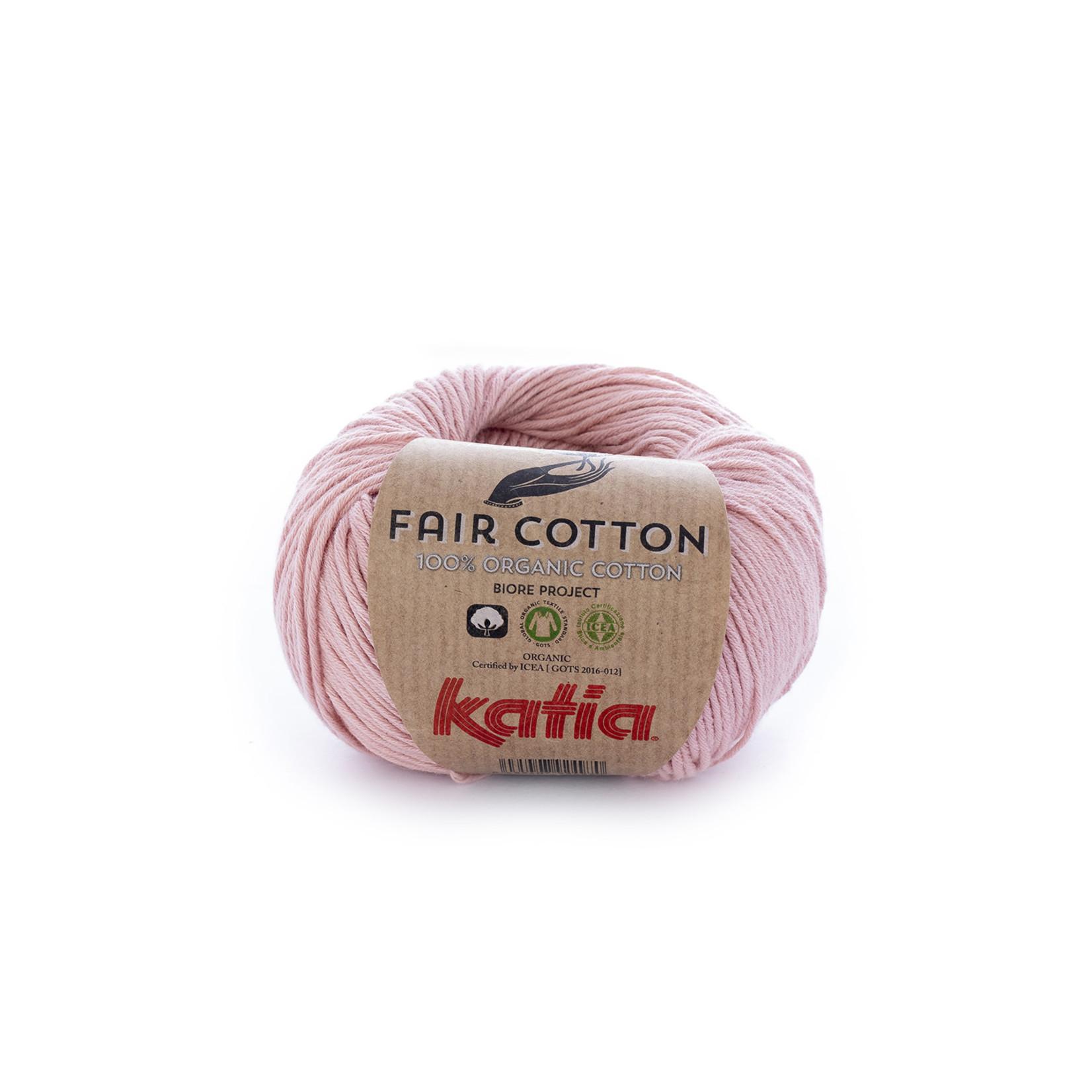 Katia Katia Fair Cotton 13 - lichtroze - 1 bol = 50 gr. = 155 m. - 100% biol. katoen