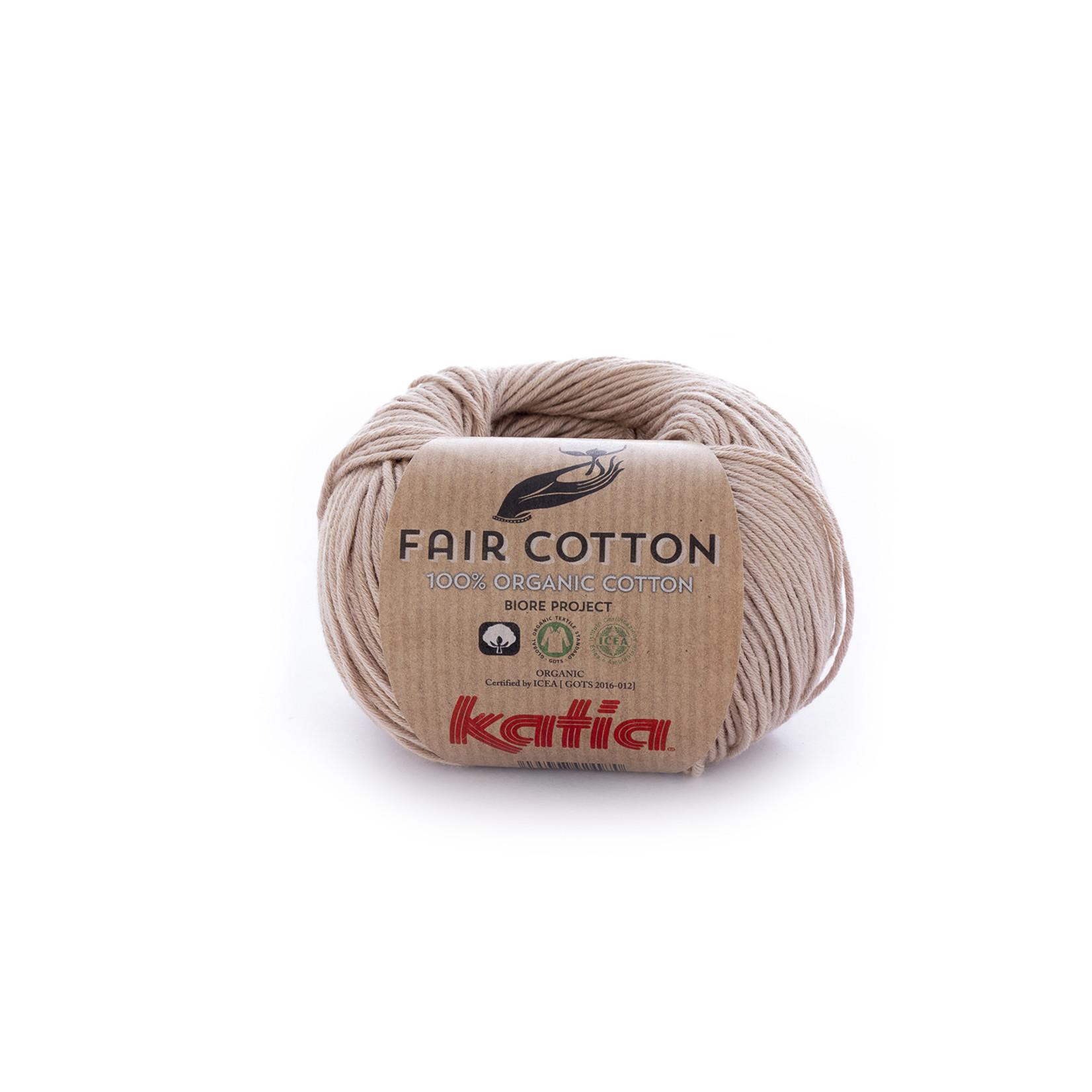 Katia Katia Fair Cotton 12 - sepiabruin - 1 bol = 50 gr. = 155 m. - 100% biol. katoen