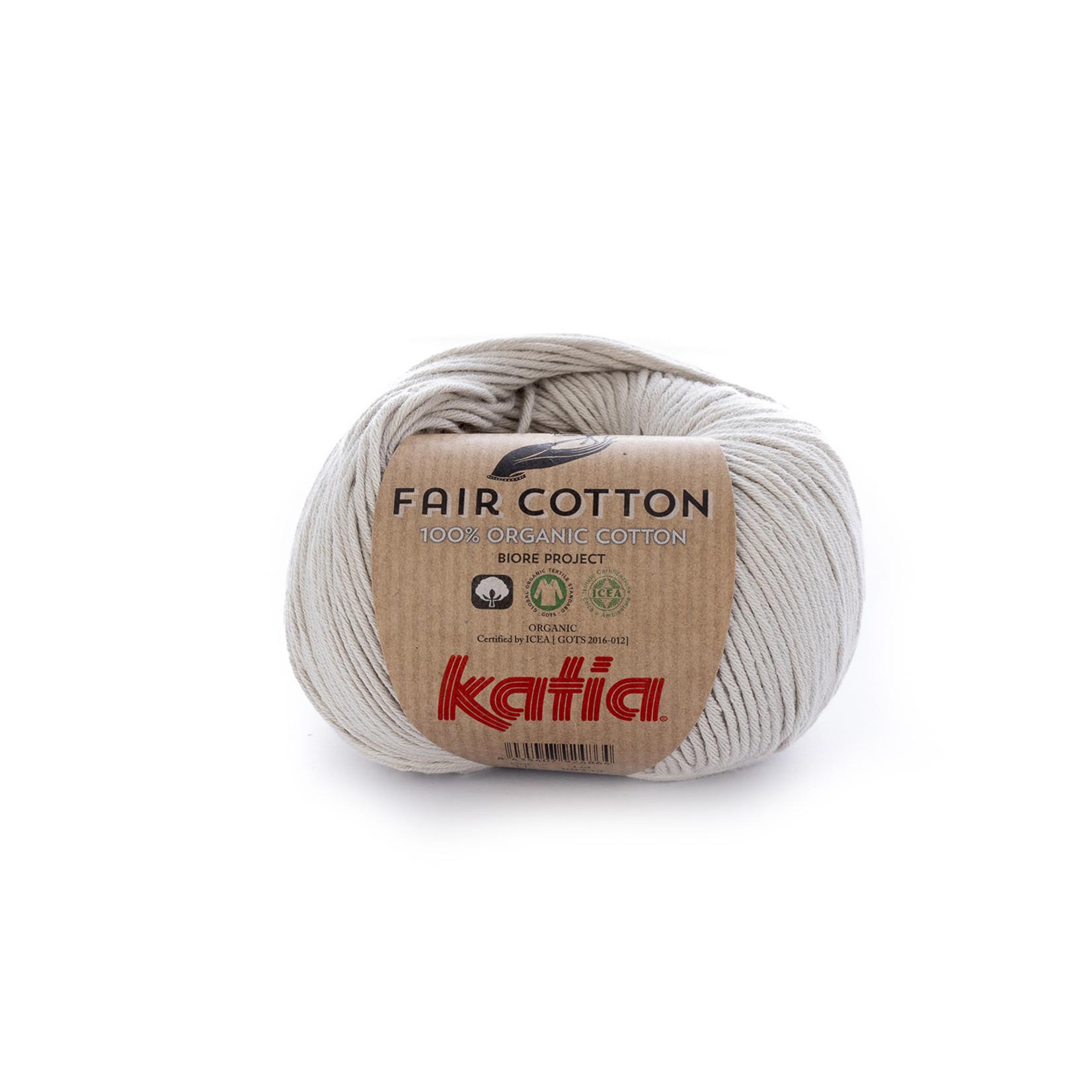 Katia Katia Fair Cotton 11 - parelmoer - lichtgrijs - 1 bol = 50 gr. = 155 m. - 100% biol. katoen