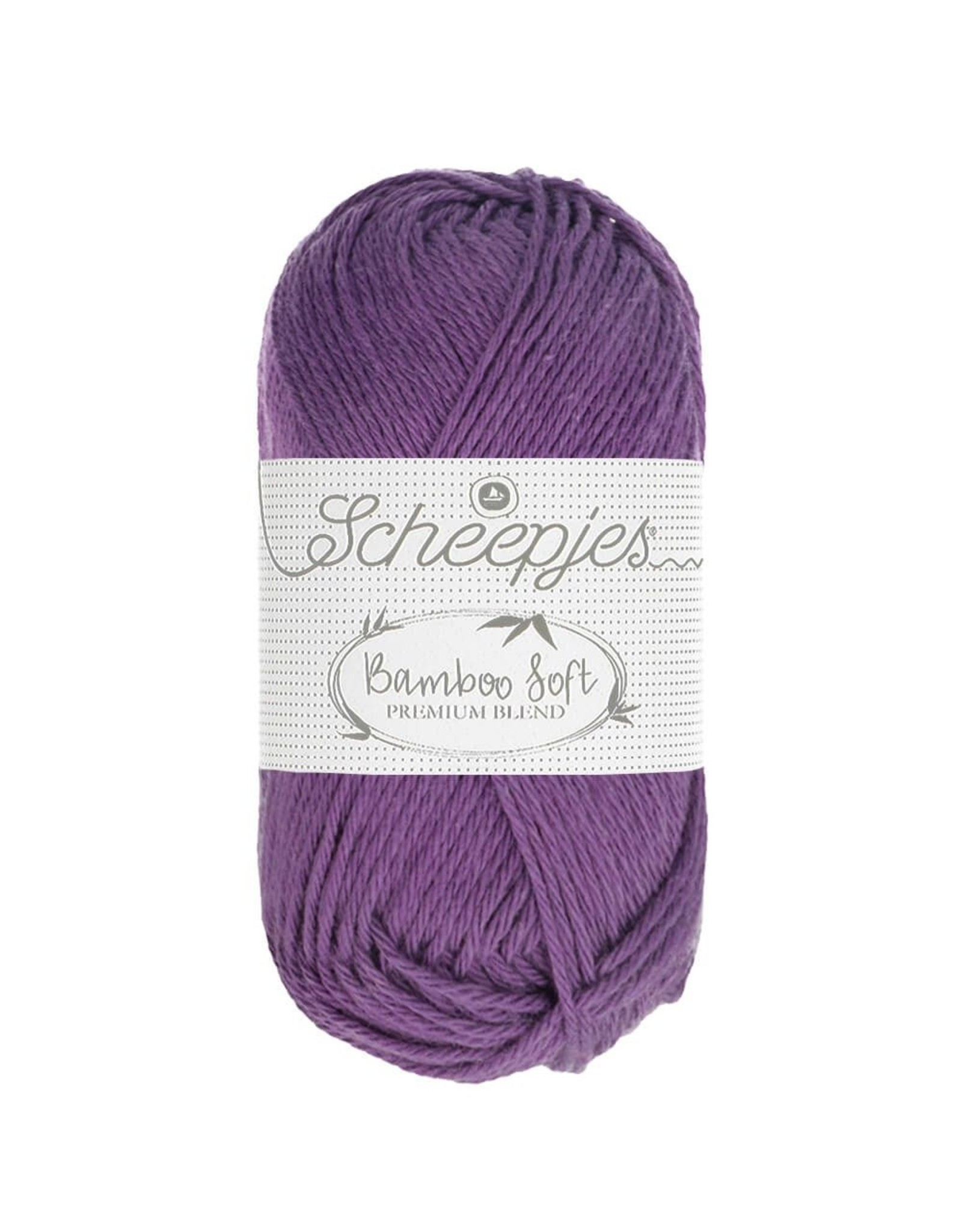 Scheepjes Scheepjes Bamboo Soft kleur kleur 252 Royal Purple bundel 5 bollen x 50 gr.